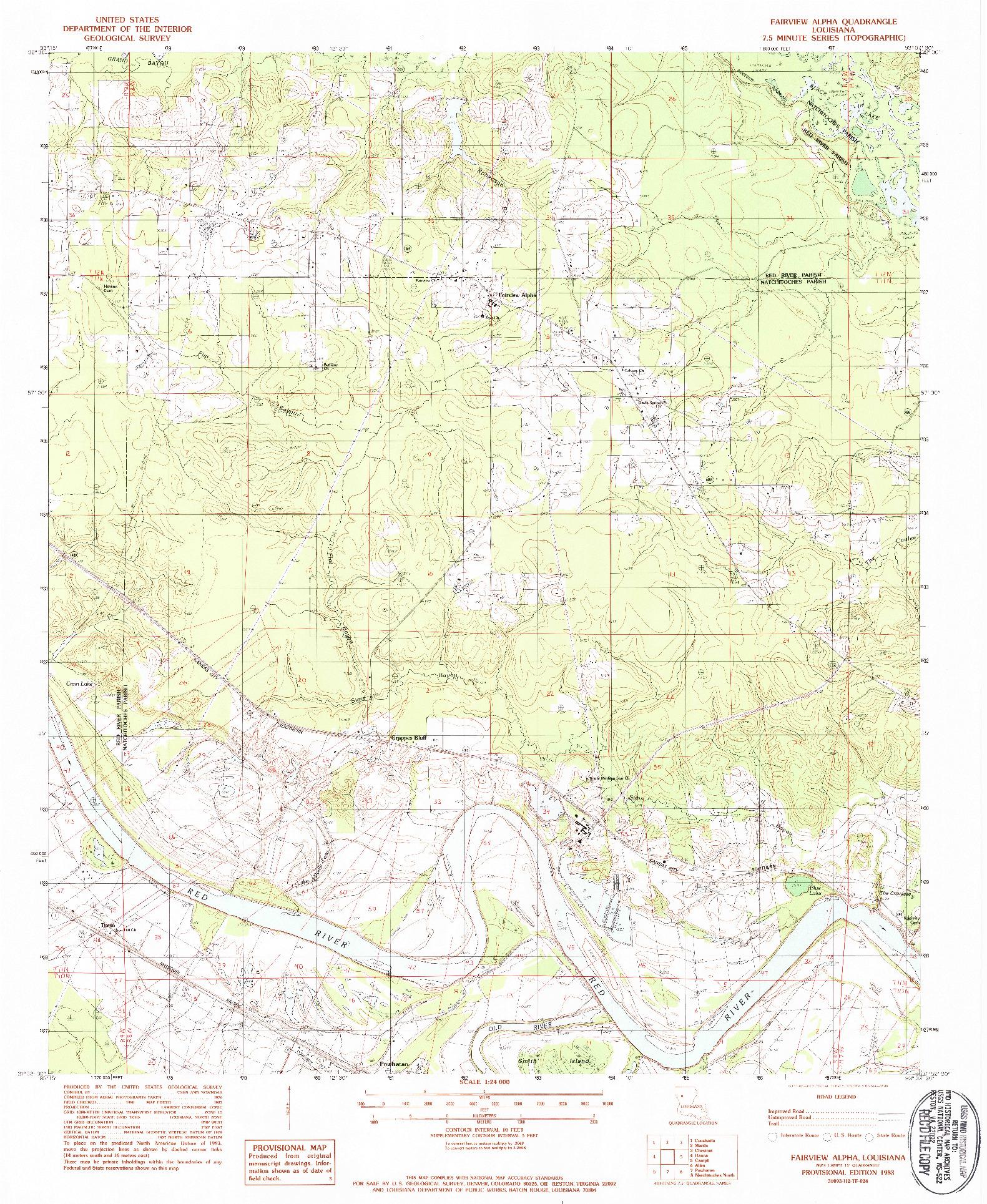 USGS 1:24000-SCALE QUADRANGLE FOR FAIRVIEW ALPHA, LA 1983