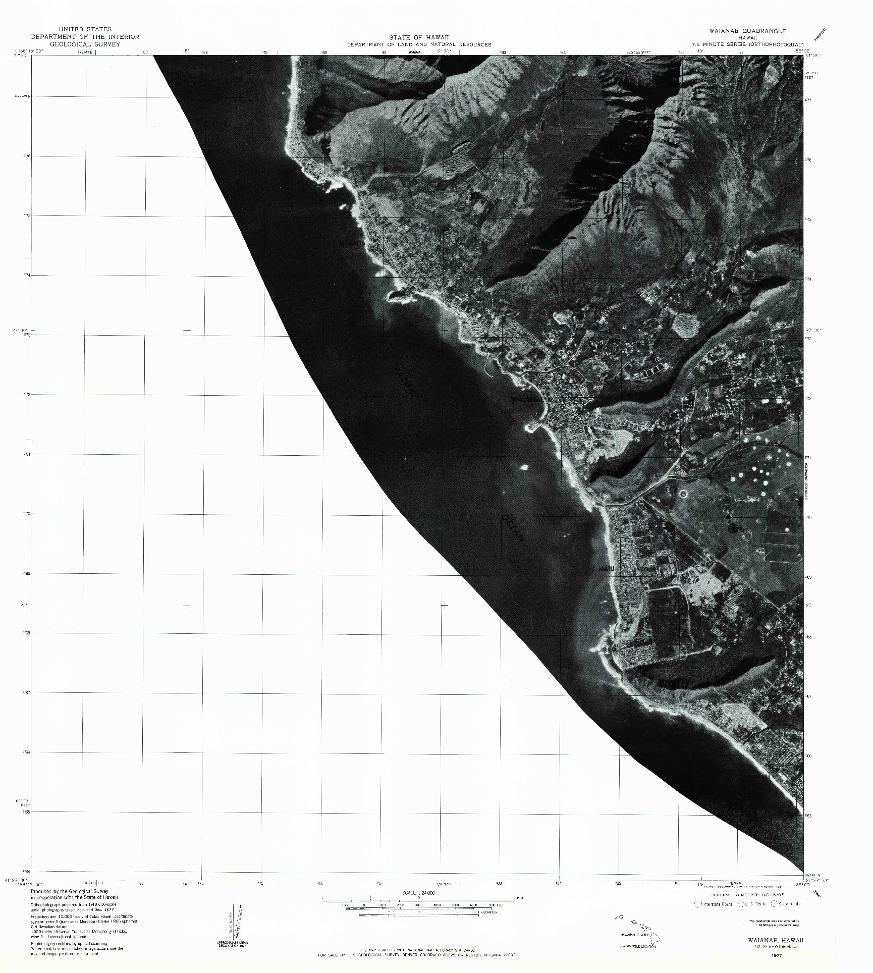 USGS 1:24000-SCALE QUADRANGLE FOR WAIANAE, HI 1977