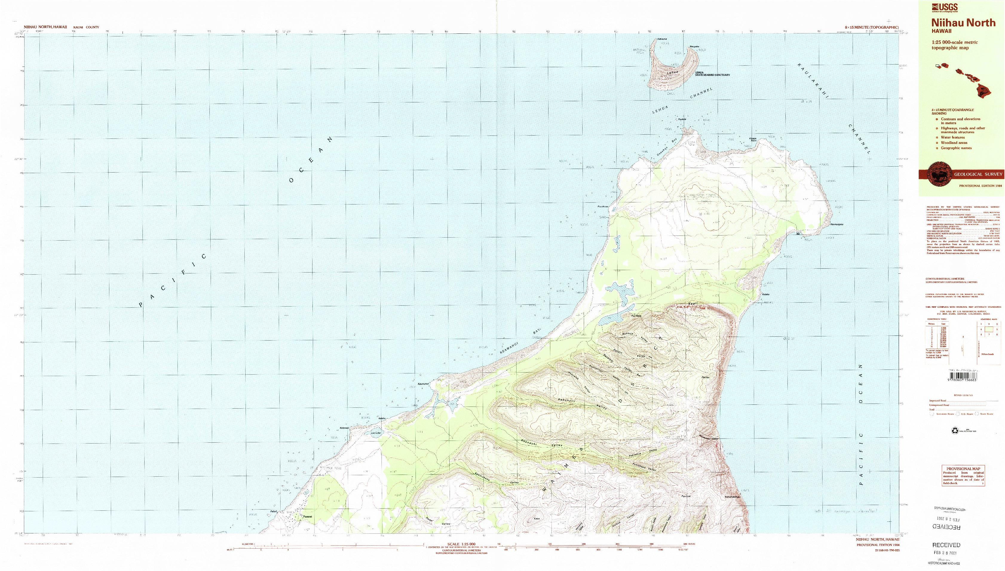 USGS 1:25000-SCALE QUADRANGLE FOR NIIHAU NORTH, HI 1984