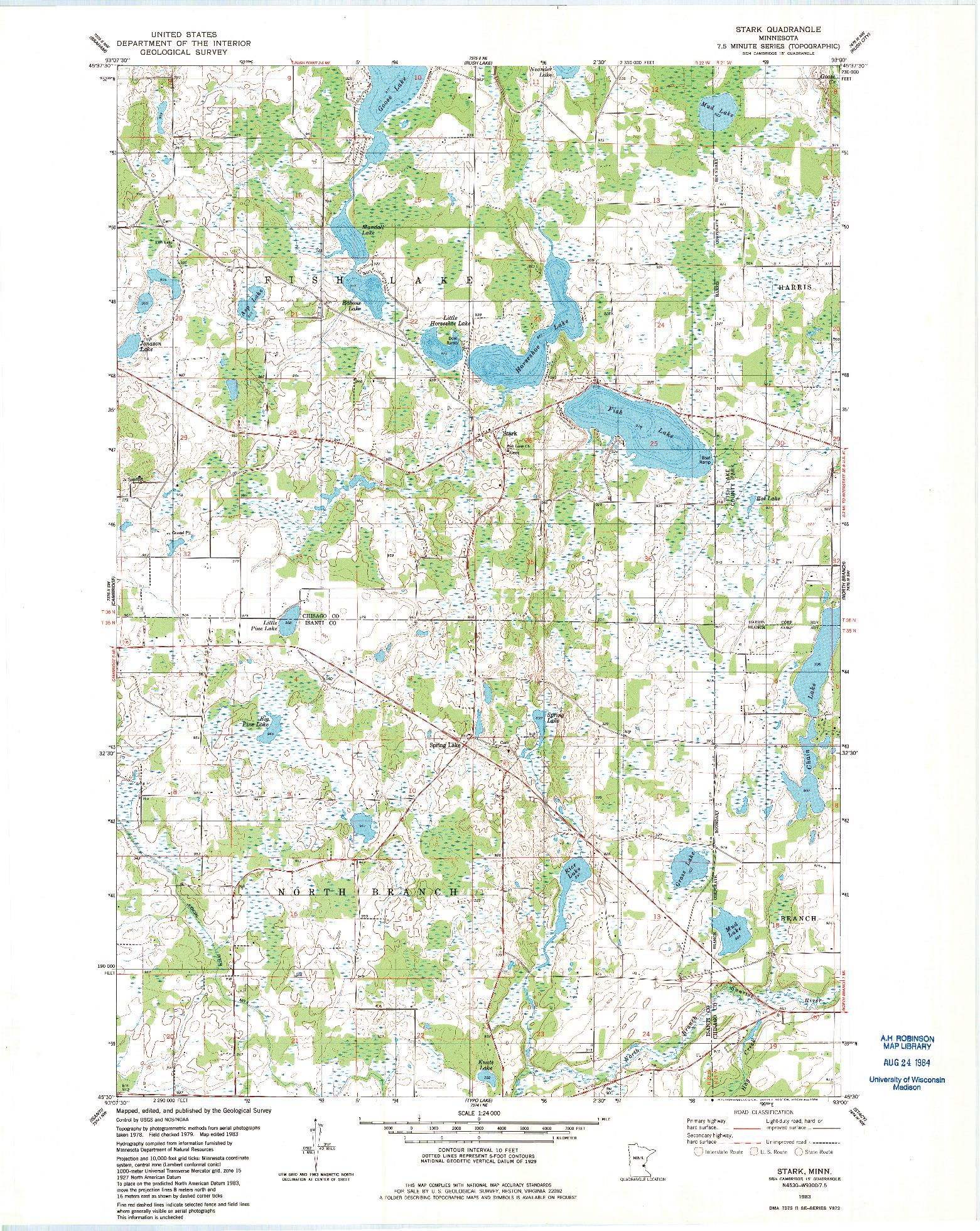 USGS 1:24000-SCALE QUADRANGLE FOR STARK, MN 1983