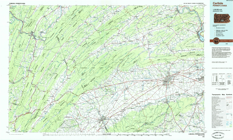 USGS 1:100000-SCALE QUADRANGLE FOR CARLISLE, PA 1984