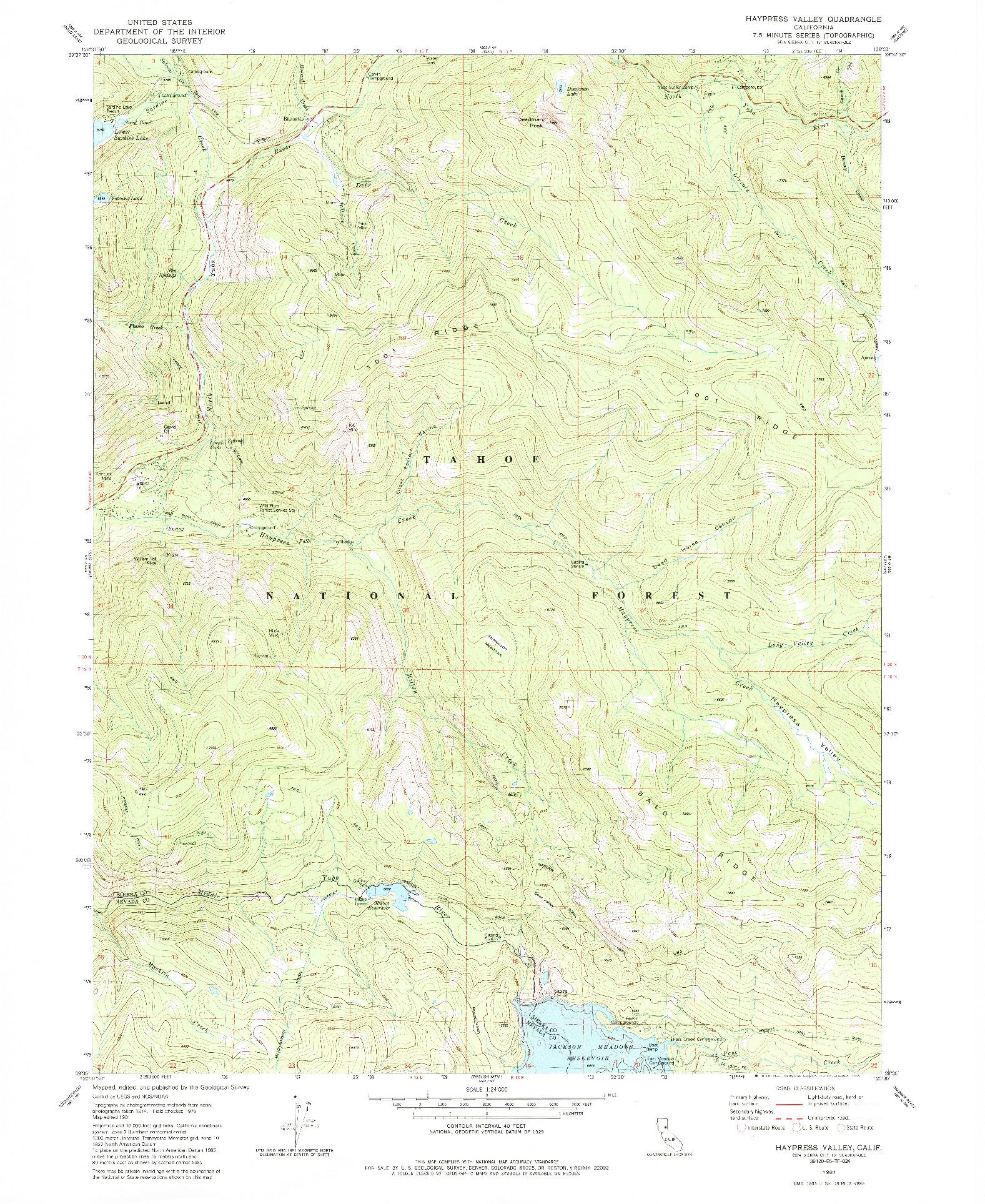 USGS 1:24000-SCALE QUADRANGLE FOR HAYPRESS VALLEY, CA 1981