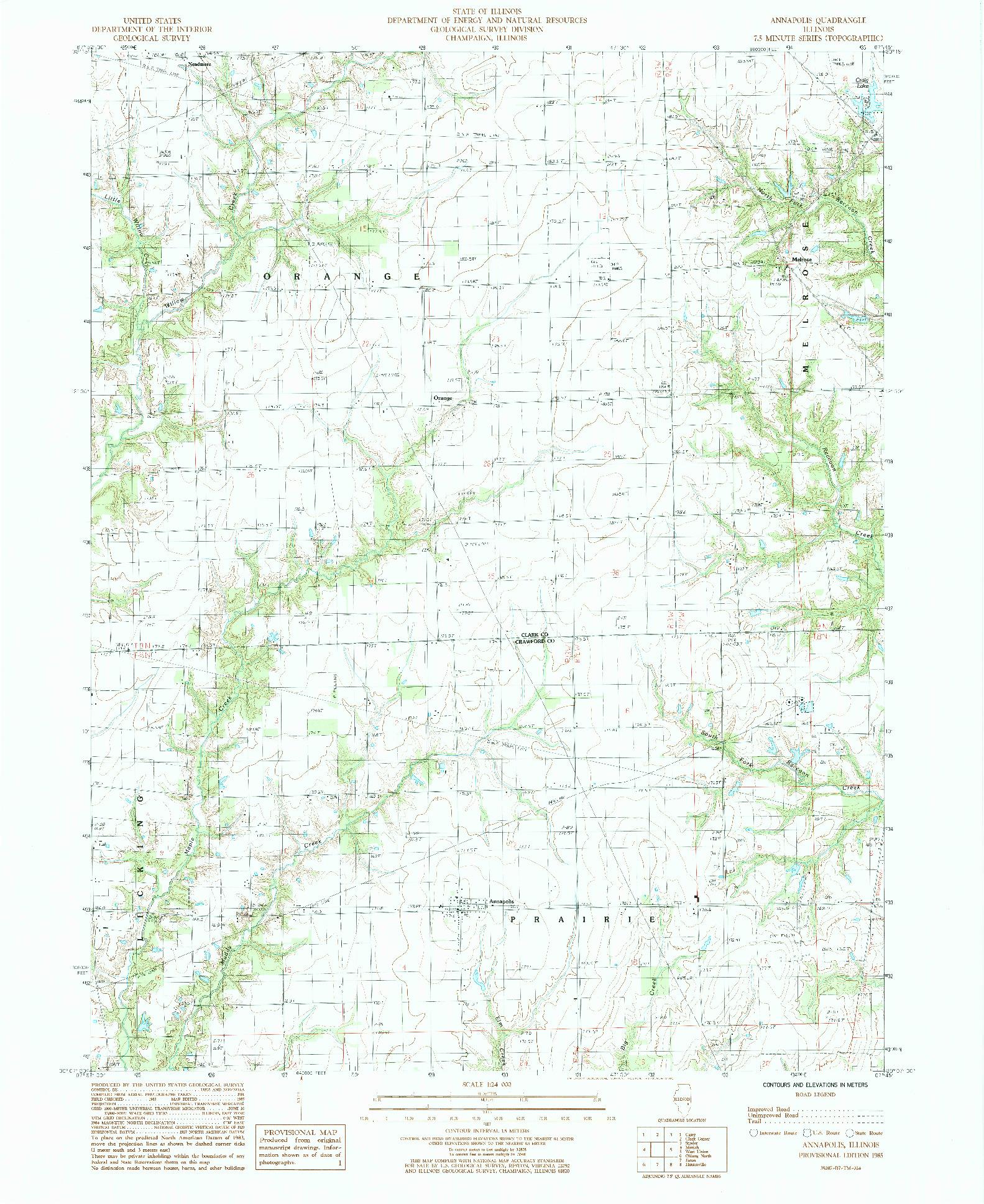 USGS 1:24000-SCALE QUADRANGLE FOR ANNAPOLIS, IL 1985