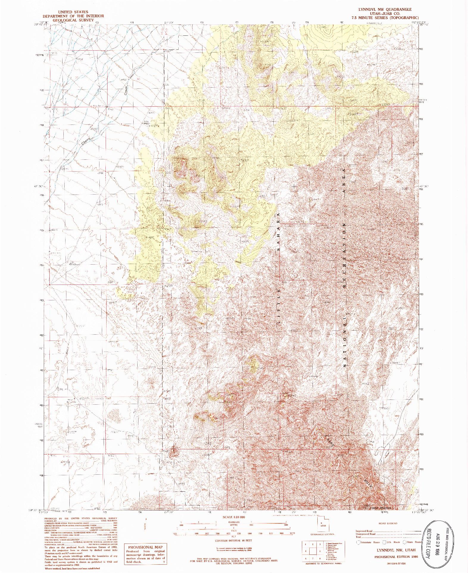 USGS 1:24000-SCALE QUADRANGLE FOR LYNNDYL NW, UT 1986