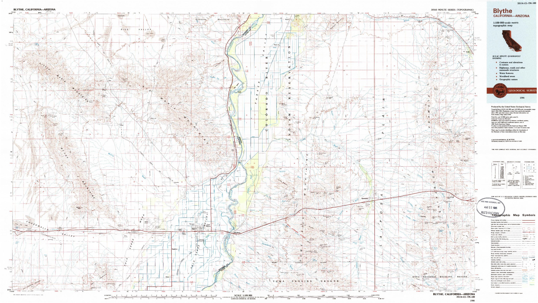 USGS 1:100000-SCALE QUADRANGLE FOR BLYTHE, CA 1986