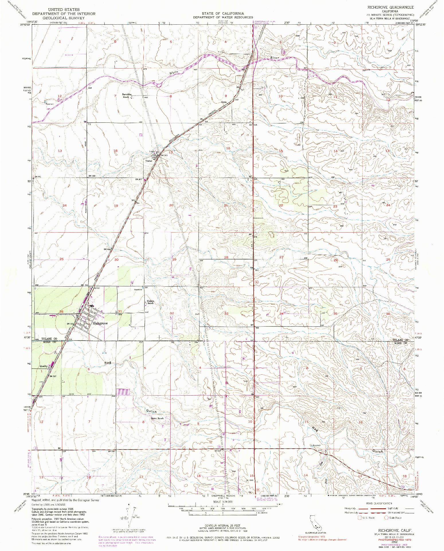 USGS 1:24000-SCALE QUADRANGLE FOR RICHGROVE, CA 1952