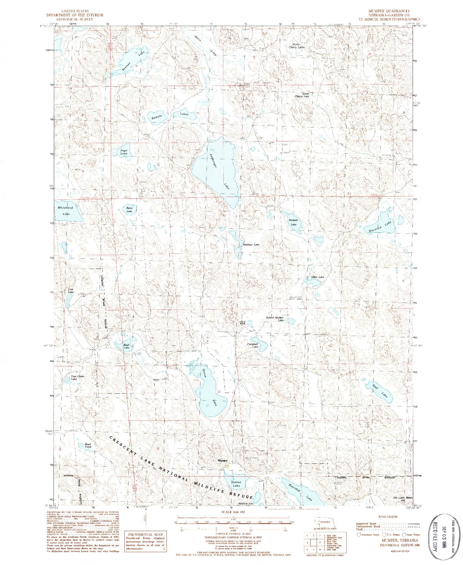 USGS 1:24000-SCALE QUADRANGLE FOR MUMPER, NE 1986