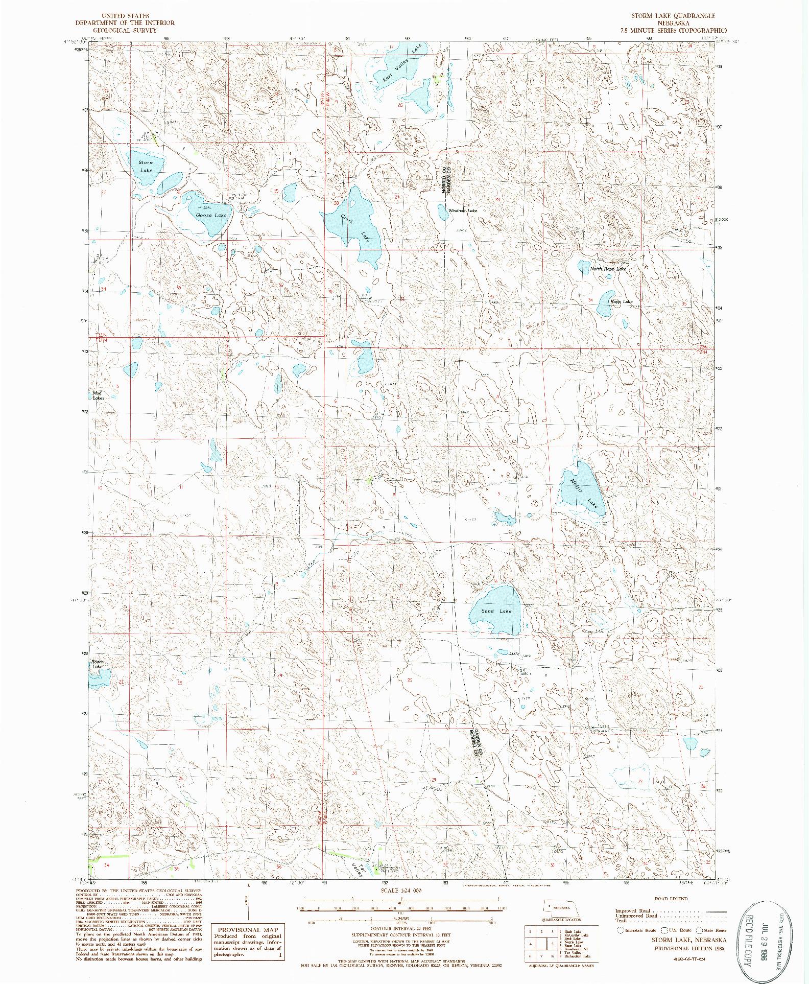 USGS 1:24000-SCALE QUADRANGLE FOR STORM LAKE, NE 1986