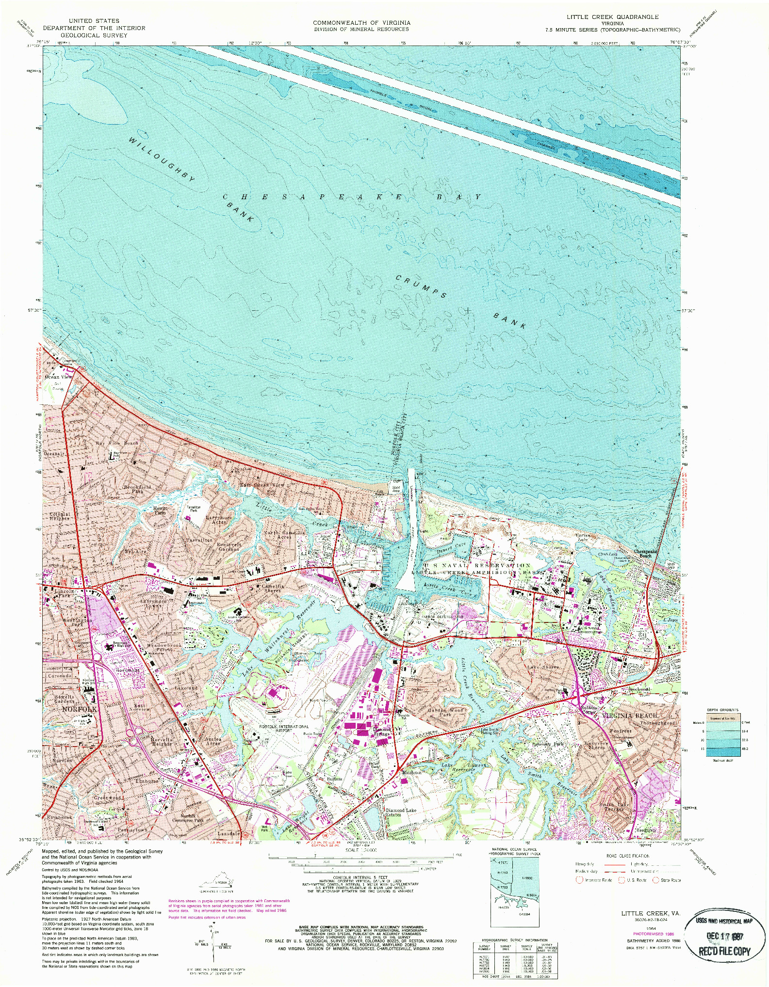 USGS 1:24000-SCALE QUADRANGLE FOR LITTLE CREEK, VA 1964