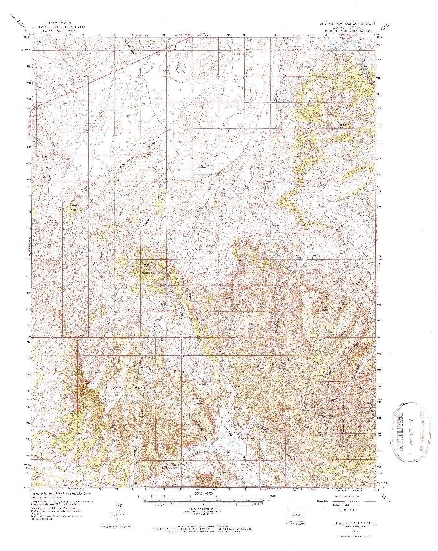 USGS 1:62500-SCALE QUADRANGLE FOR CITADEL PLATEAU, CO 1958