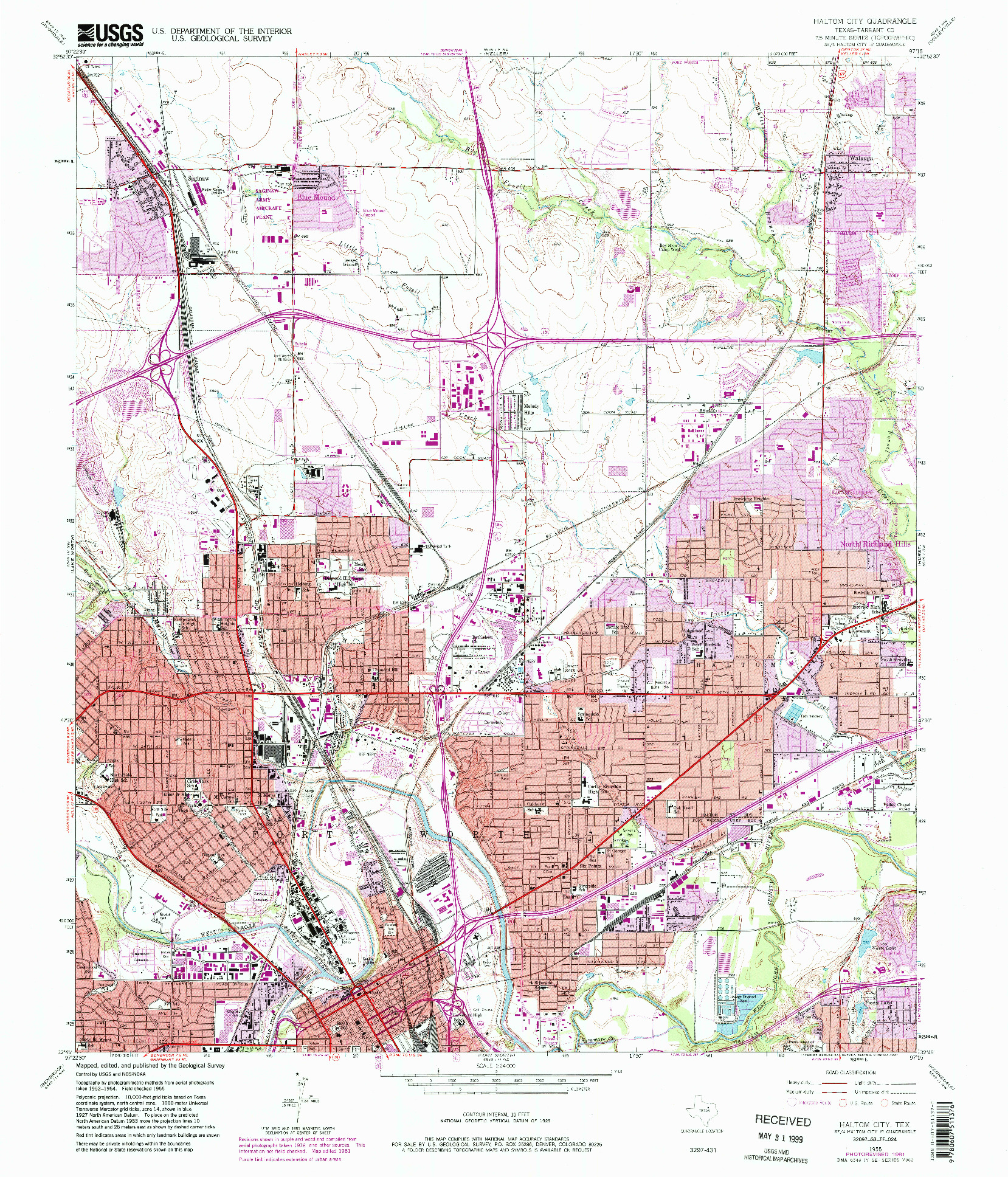 USGS 1:24000-SCALE QUADRANGLE FOR HALTOM CITY, TX 1955