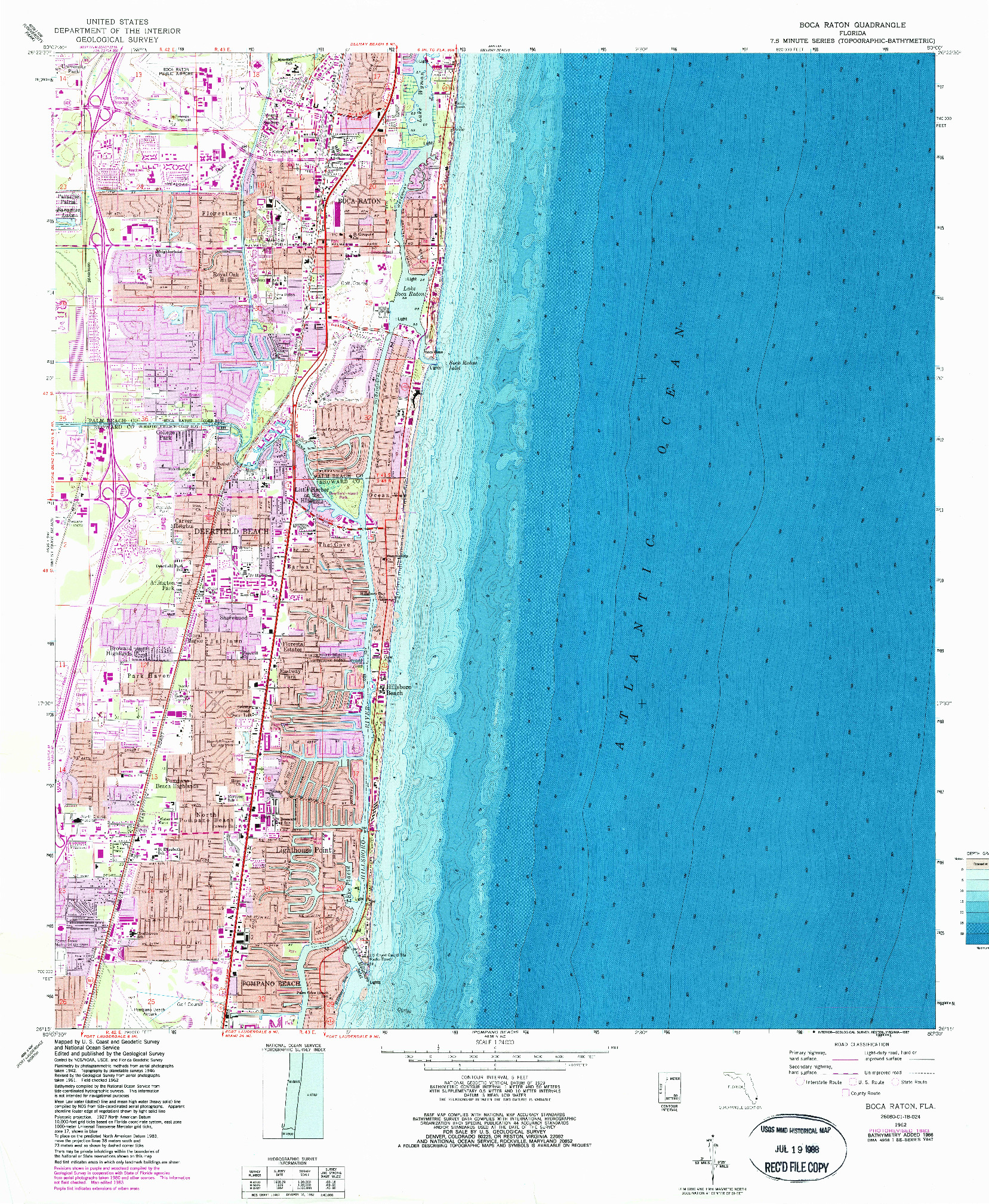 USGS 1:24000-SCALE QUADRANGLE FOR BOCA RATON, FL 1962