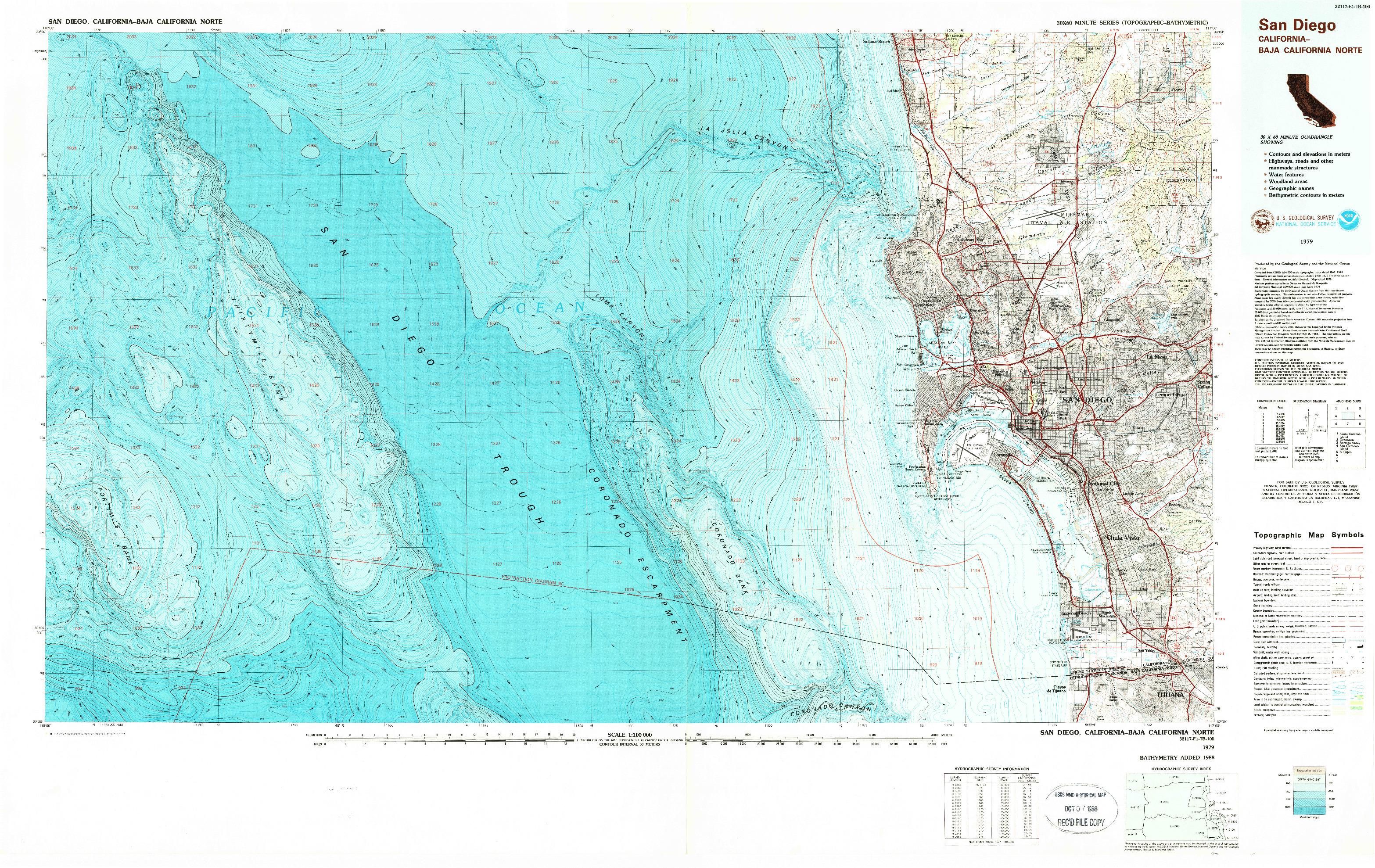 USGS 1:100000-SCALE QUADRANGLE FOR SAN DIEGO, CA 1979
