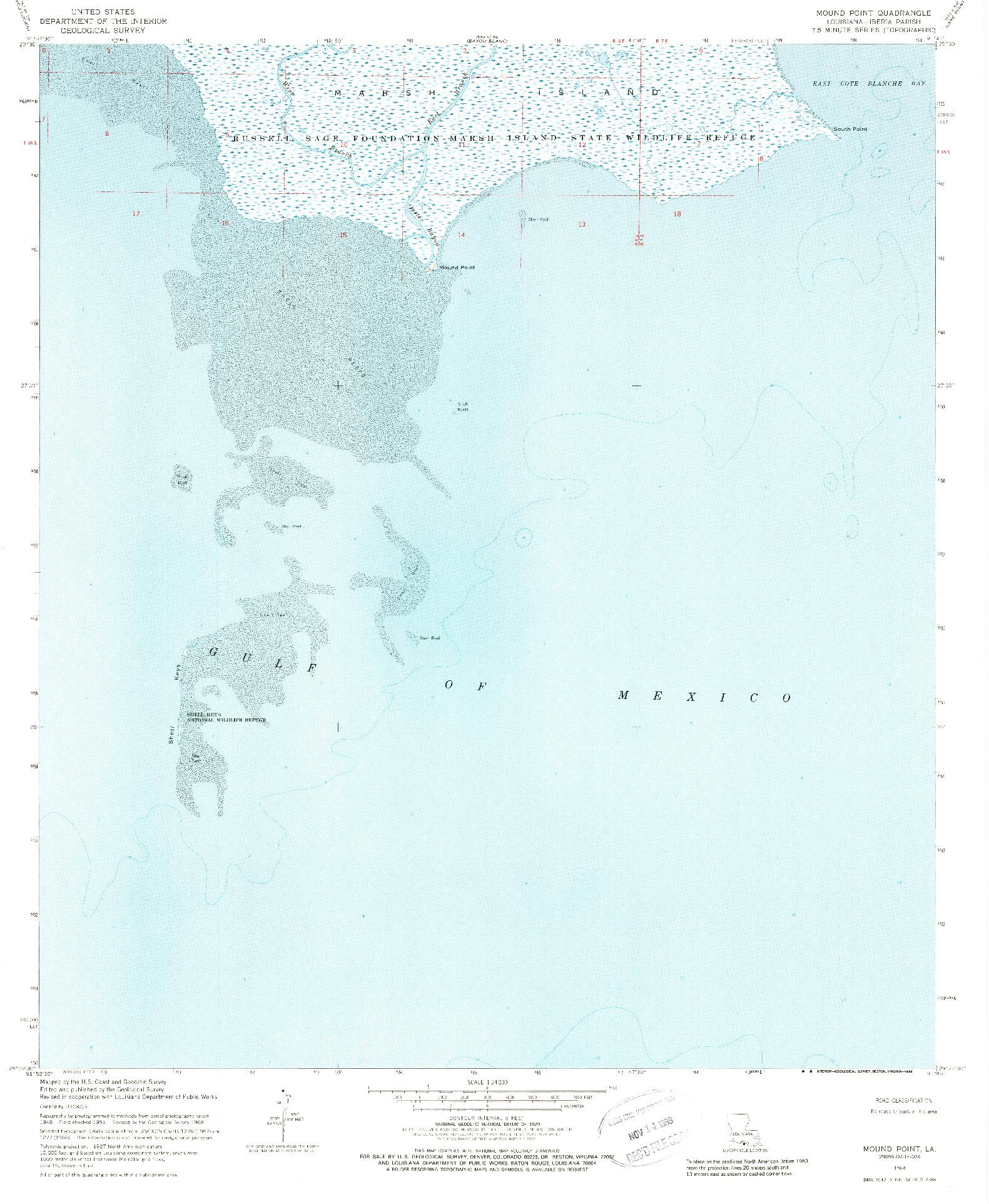USGS 1:24000-SCALE QUADRANGLE FOR MOUND POINT, LA 1968