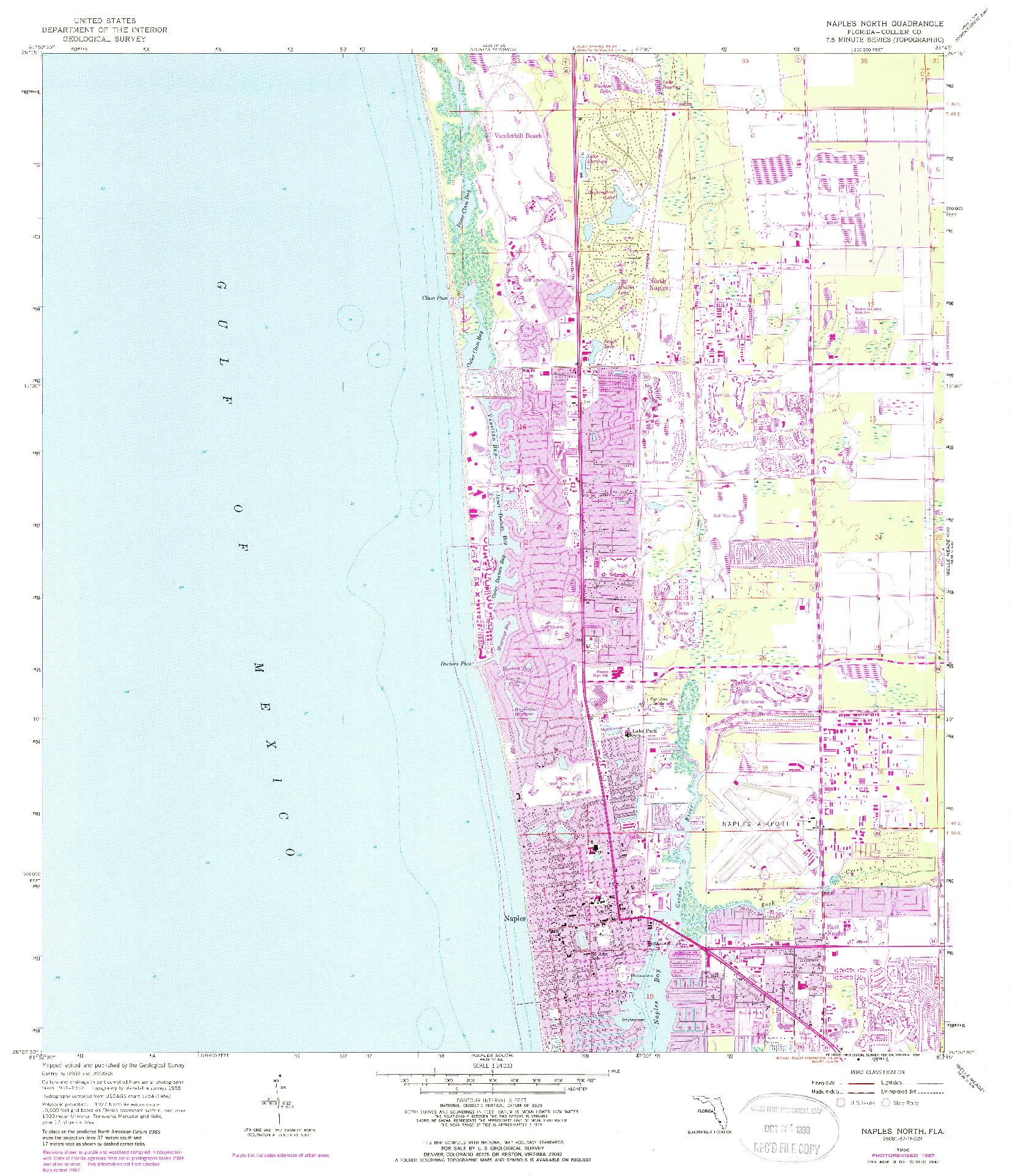 USGS 1:24000-SCALE QUADRANGLE FOR NAPLES NORTH, FL 1958