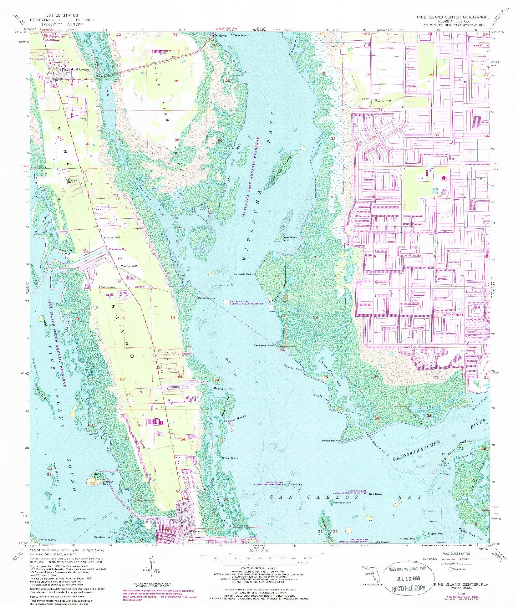 USGS 1:24000-SCALE QUADRANGLE FOR PINE ISLAND CENTER, FL 1958