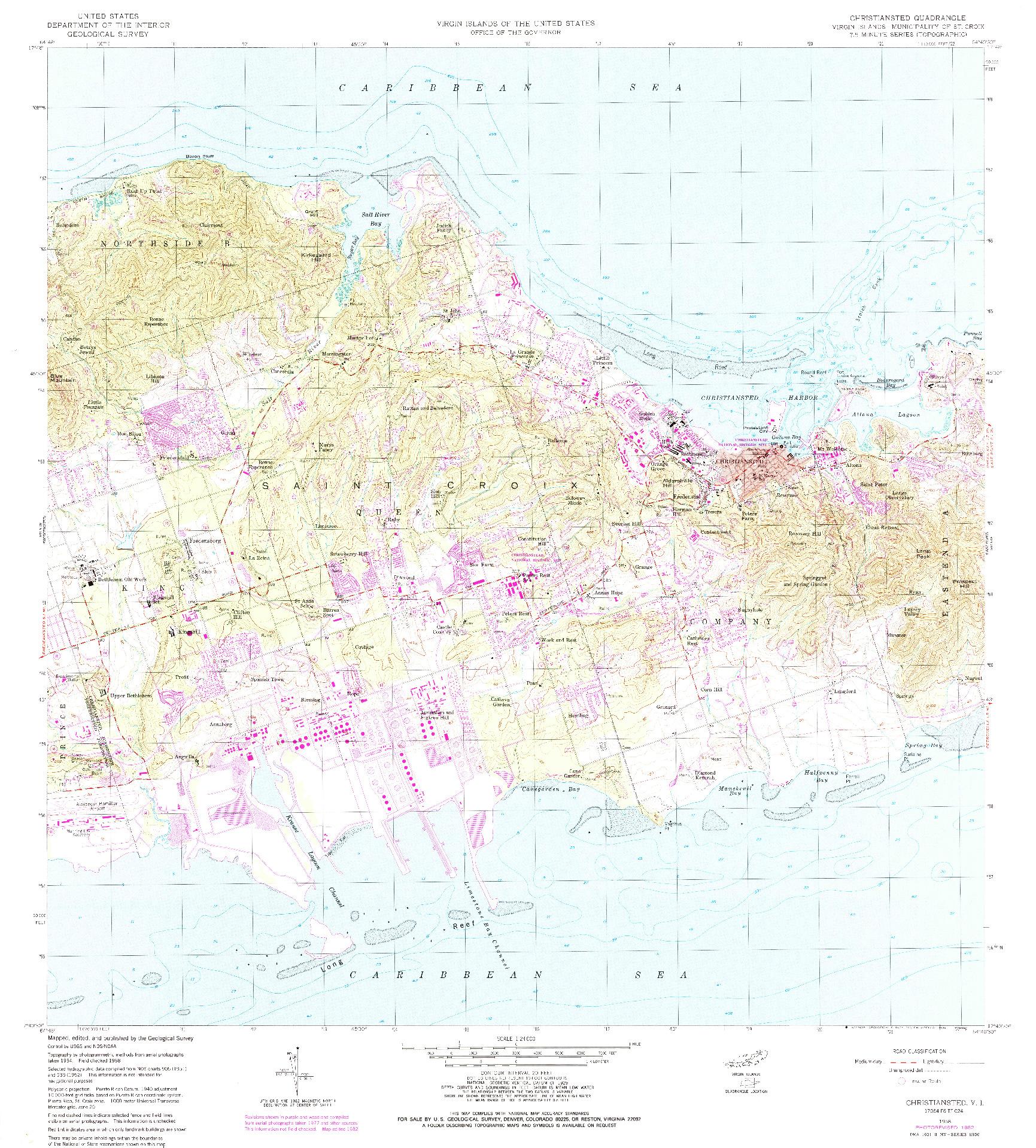 USGS 1:24000-SCALE QUADRANGLE FOR CHRISTIANSTED, VI 1958