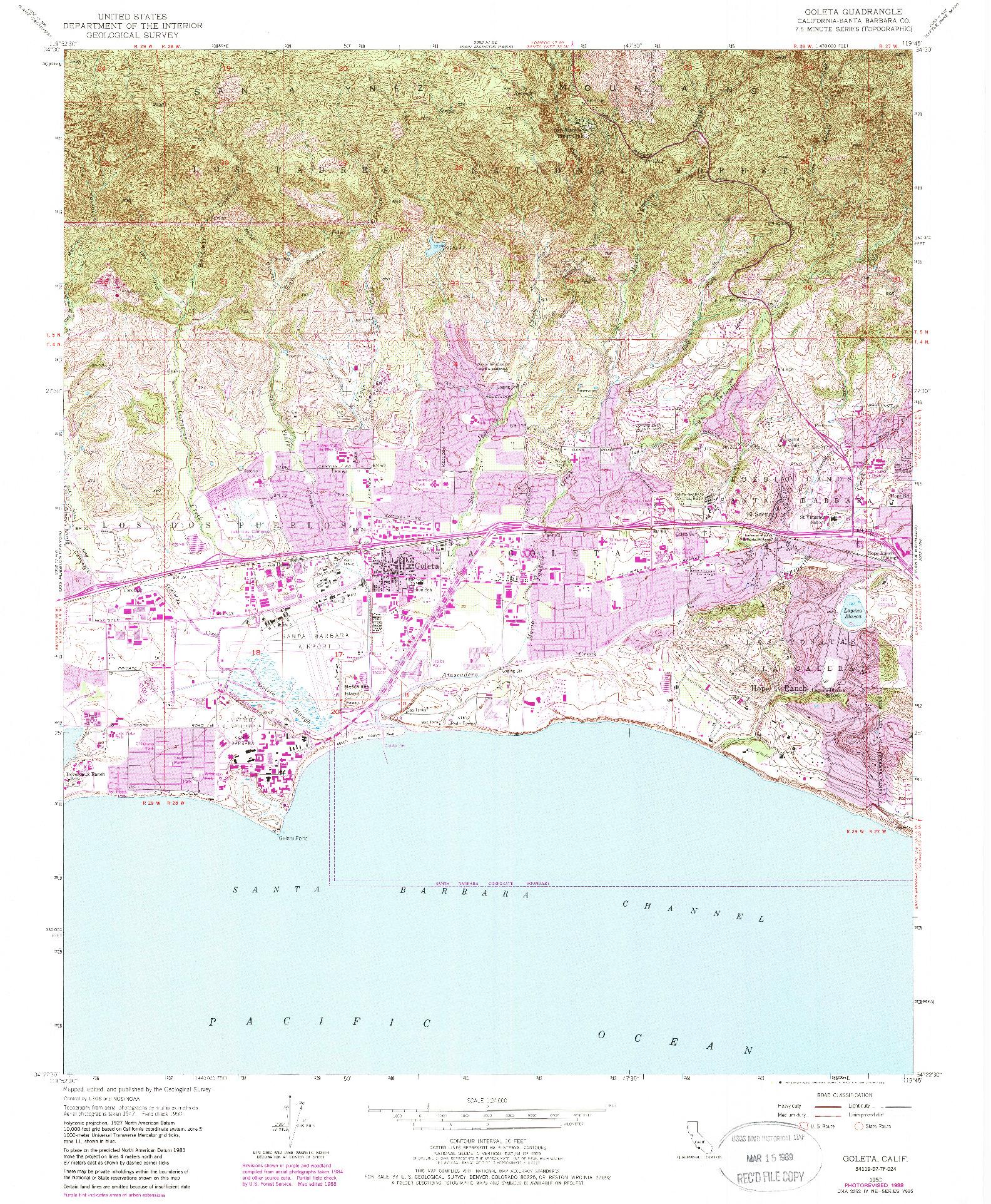 USGS 1:24000-SCALE QUADRANGLE FOR GOLETA, CA 1950