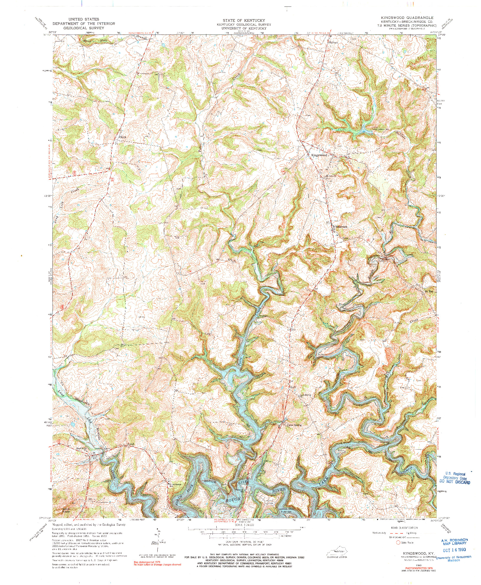 USGS 1:24000-SCALE QUADRANGLE FOR KINGSWOOD, KY 1963