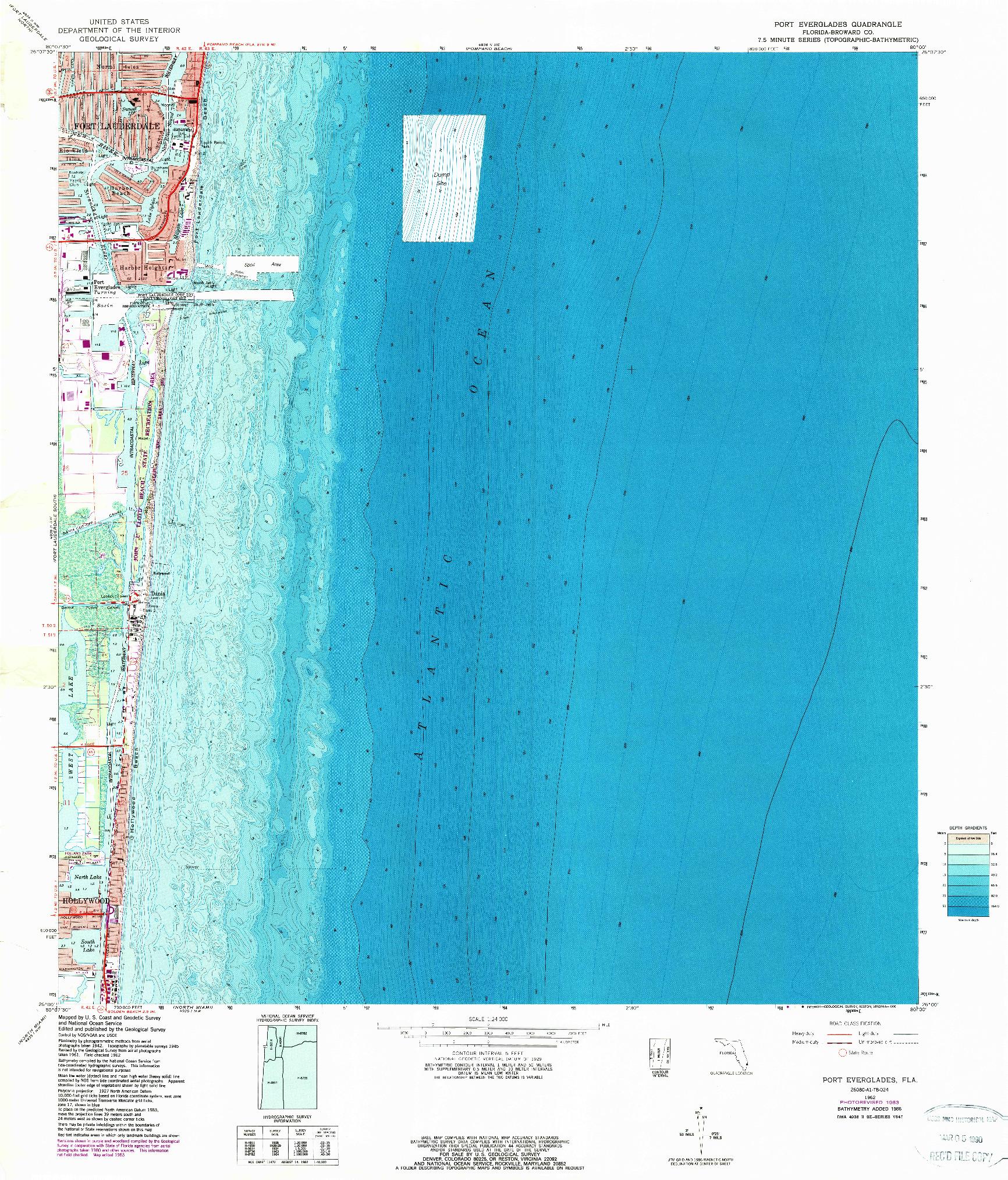 USGS 1:24000-SCALE QUADRANGLE FOR PORT EVERGLADES, FL 1962