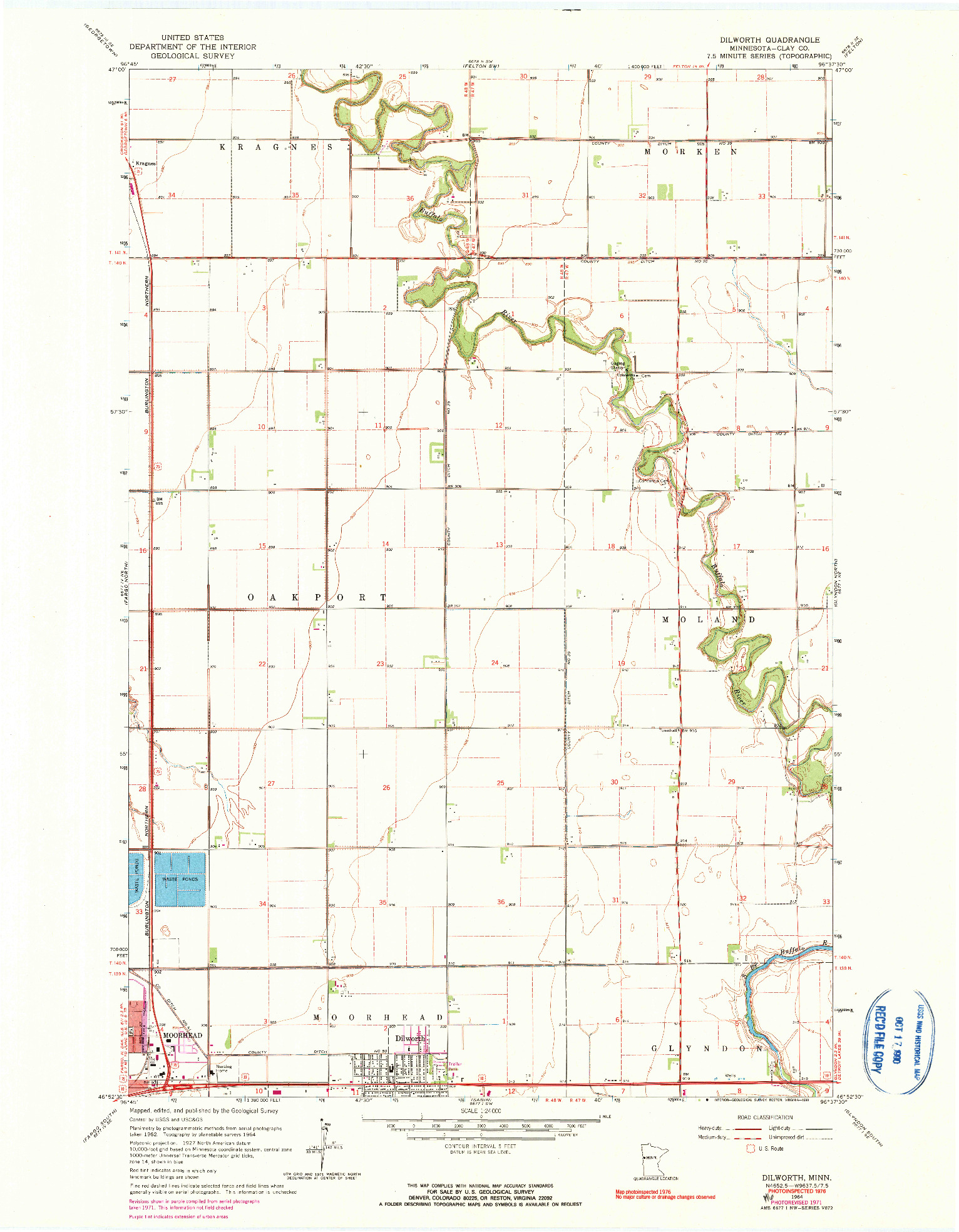 USGS 1:24000-SCALE QUADRANGLE FOR DILWORTH, MN 1964