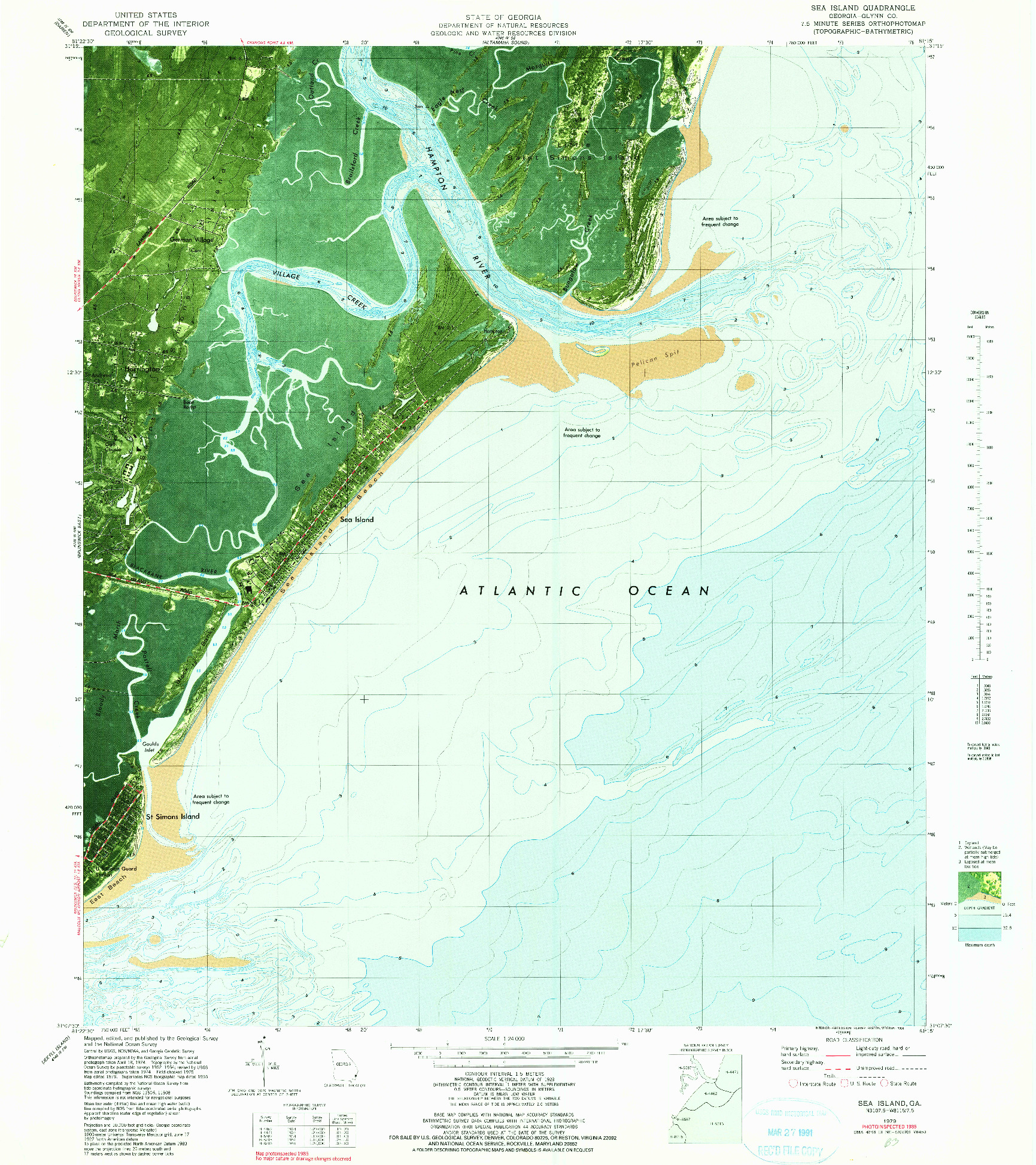 USGS 1:24000-SCALE QUADRANGLE FOR SEA ISLAND, GA 1979