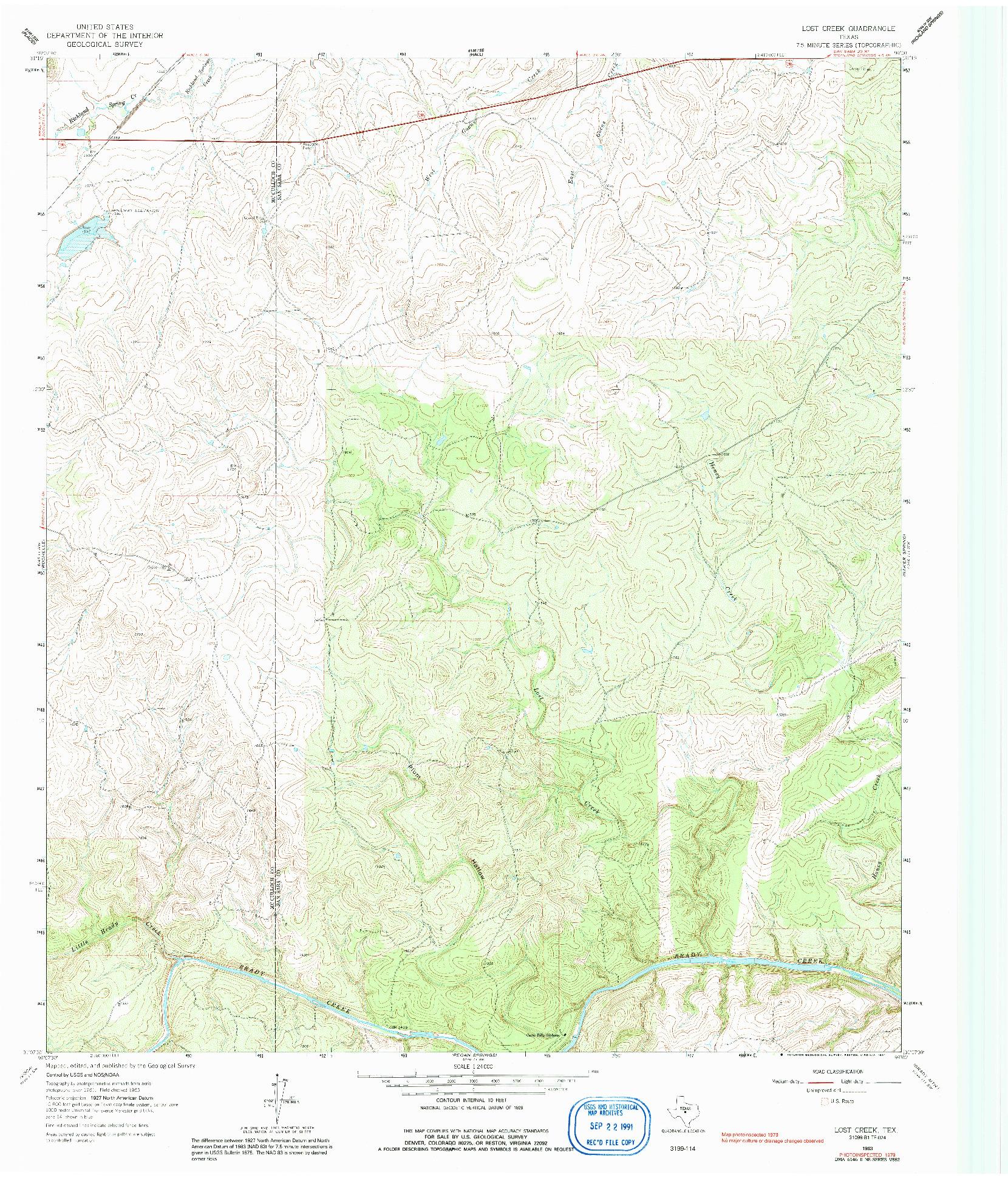 USGS 1:24000-SCALE QUADRANGLE FOR LOST CREEK, TX 1963