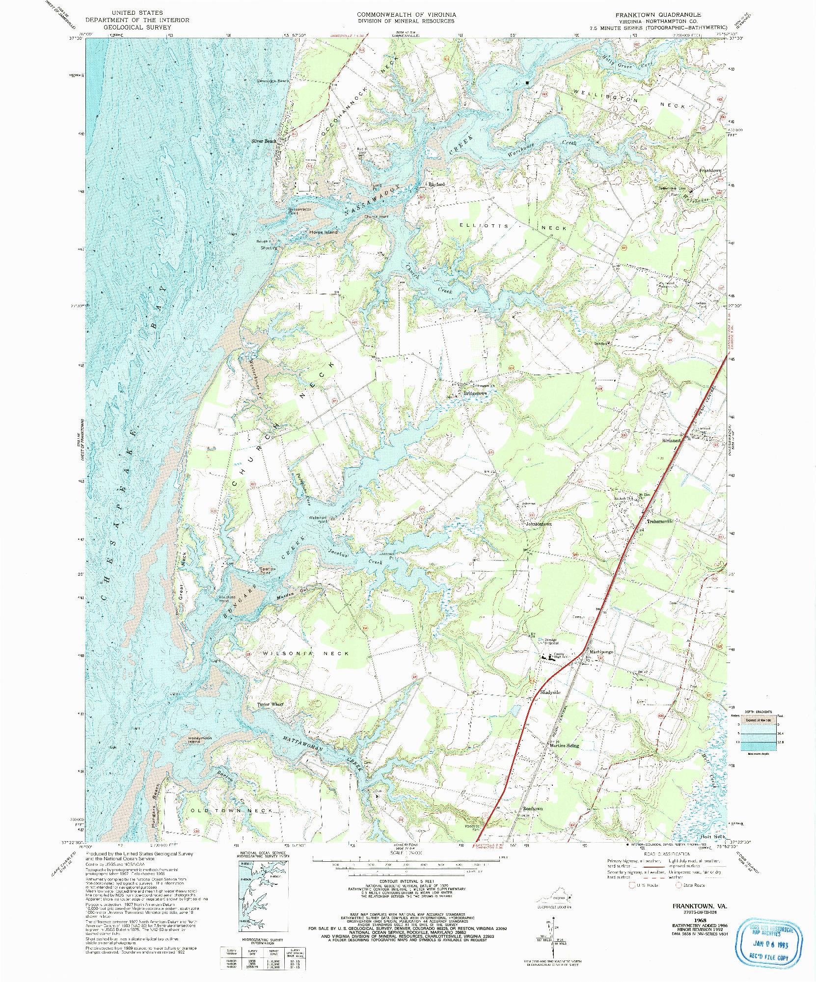 USGS 1:24000-SCALE QUADRANGLE FOR FRANKTOWN, VA 1968