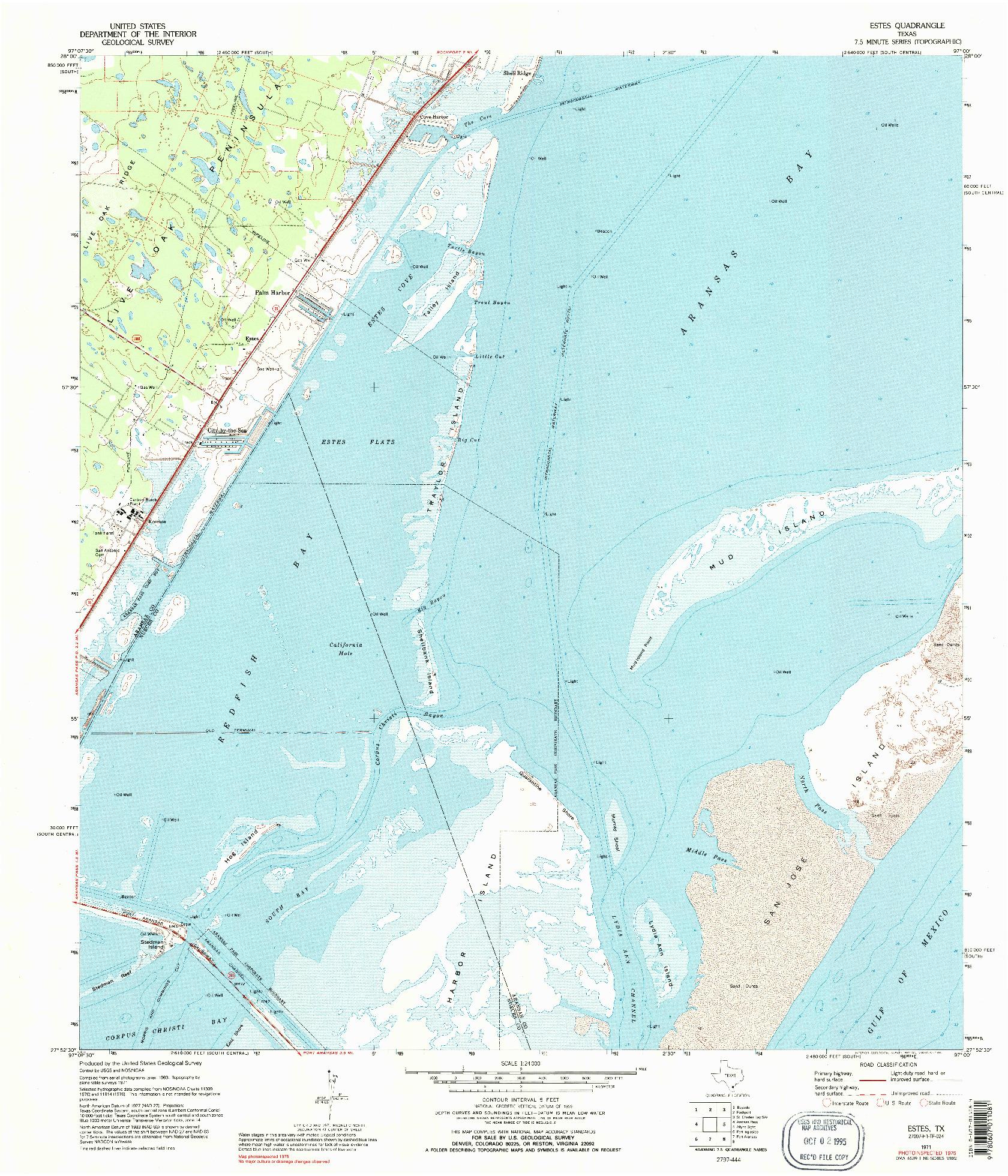 USGS 1:24000-SCALE QUADRANGLE FOR ESTES, TX 1971