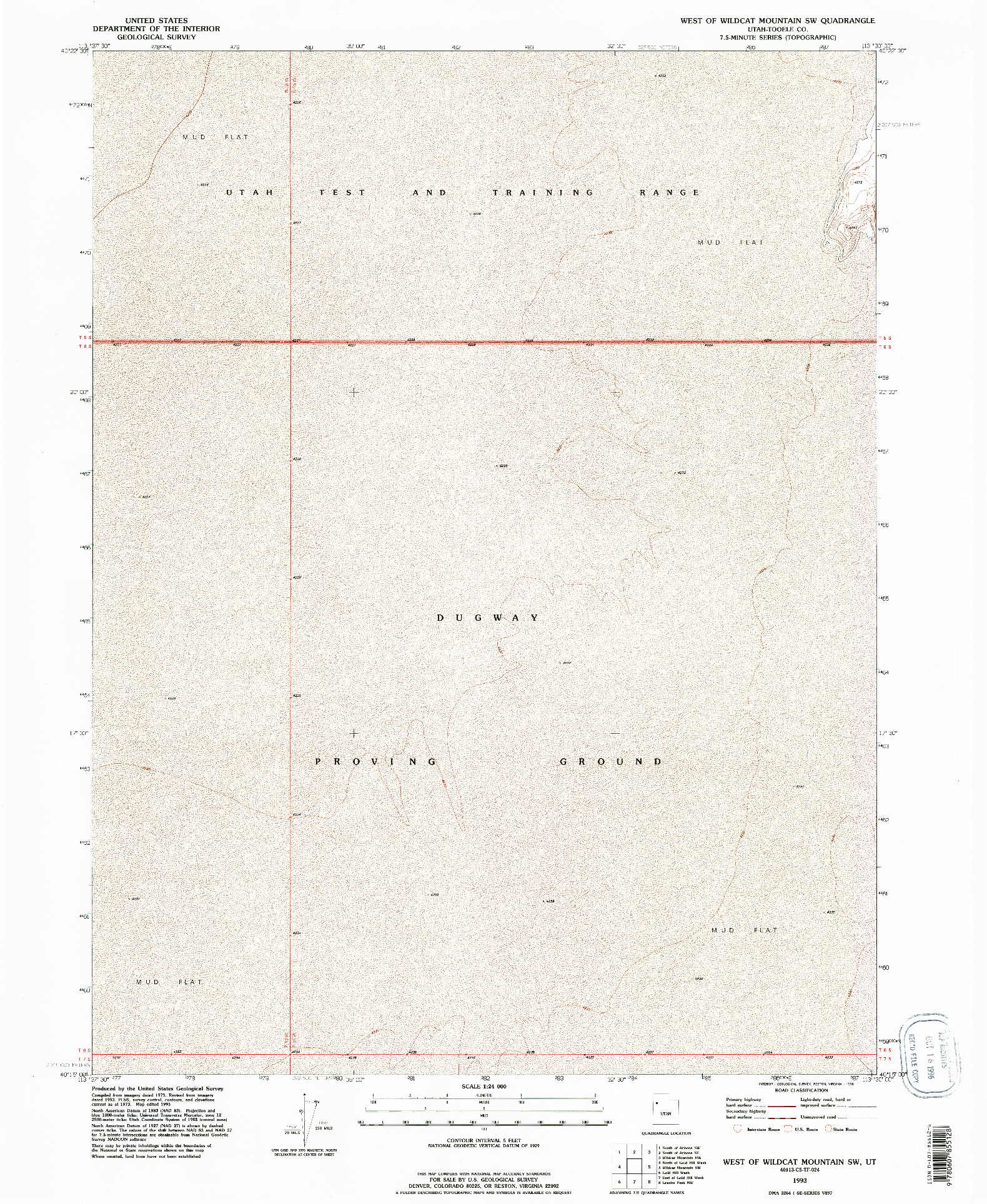 USGS 1:24000-SCALE QUADRANGLE FOR WEST OF WILDCAT MOUNTAIN SW, UT 1993