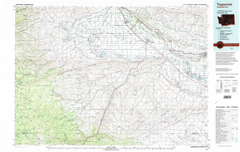 USGS 1:100000-SCALE QUADRANGLE FOR TOPPENISH, WA 1979
