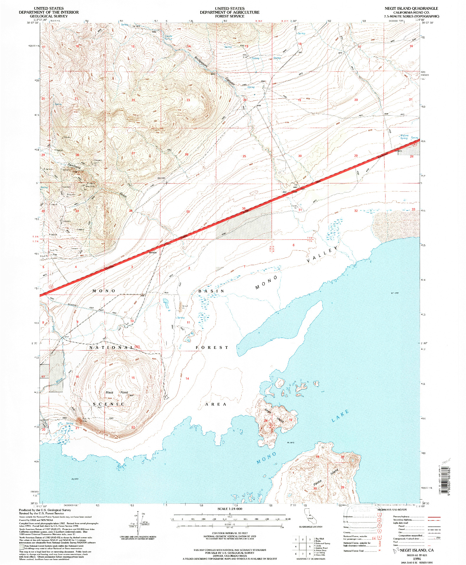 USGS 1:24000-SCALE QUADRANGLE FOR NEGIT ISLAND, CA 1994