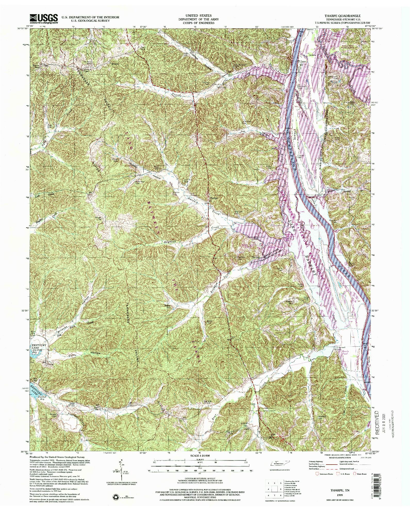USGS 1:24000-SCALE QUADRANGLE FOR THARPE, TN 1999