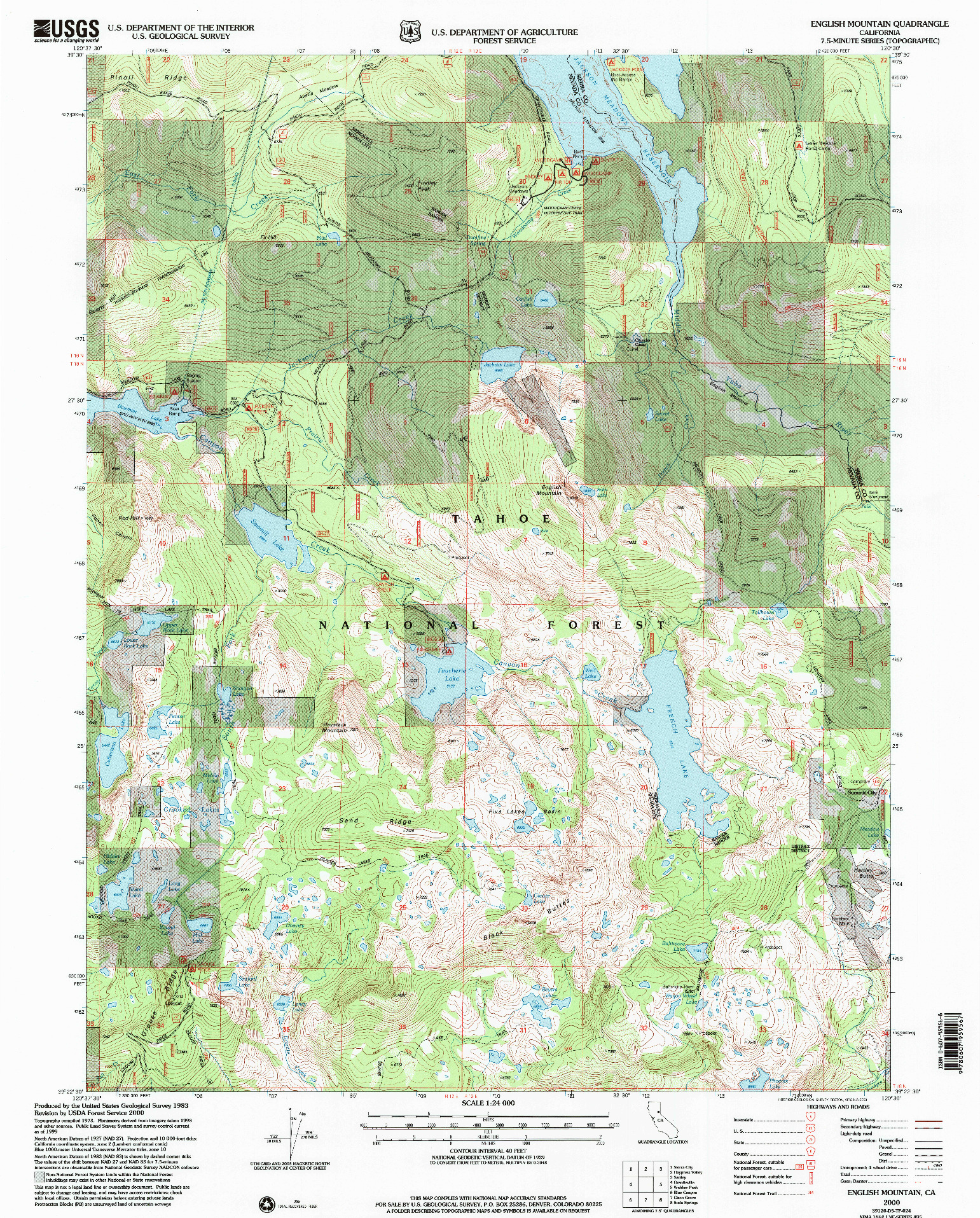 USGS 1:24000-SCALE QUADRANGLE FOR ENGLISH MOUNTAIN, CA 2000