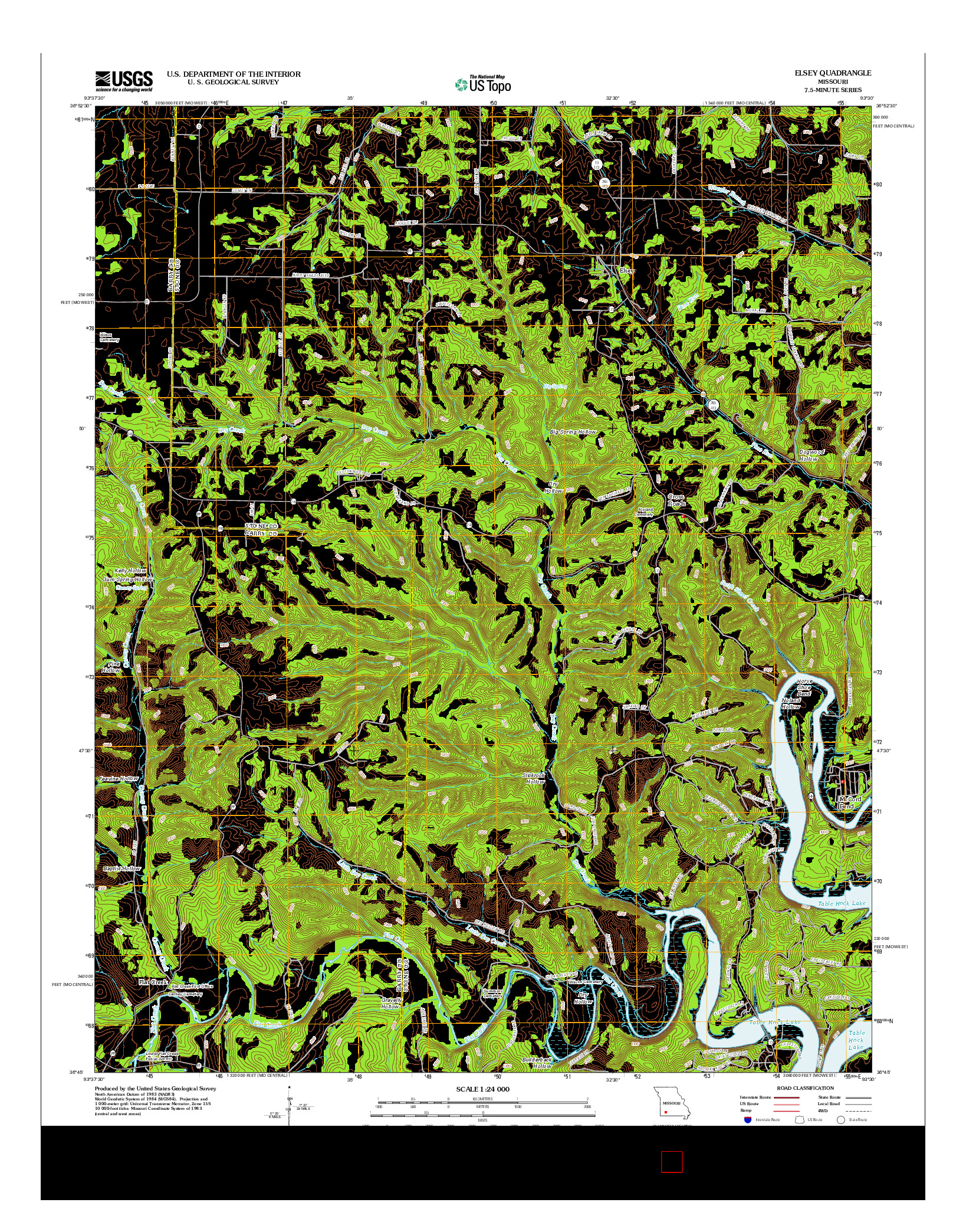 USGS US TOPO 7.5-MINUTE MAP FOR ELSEY, MO 2012
