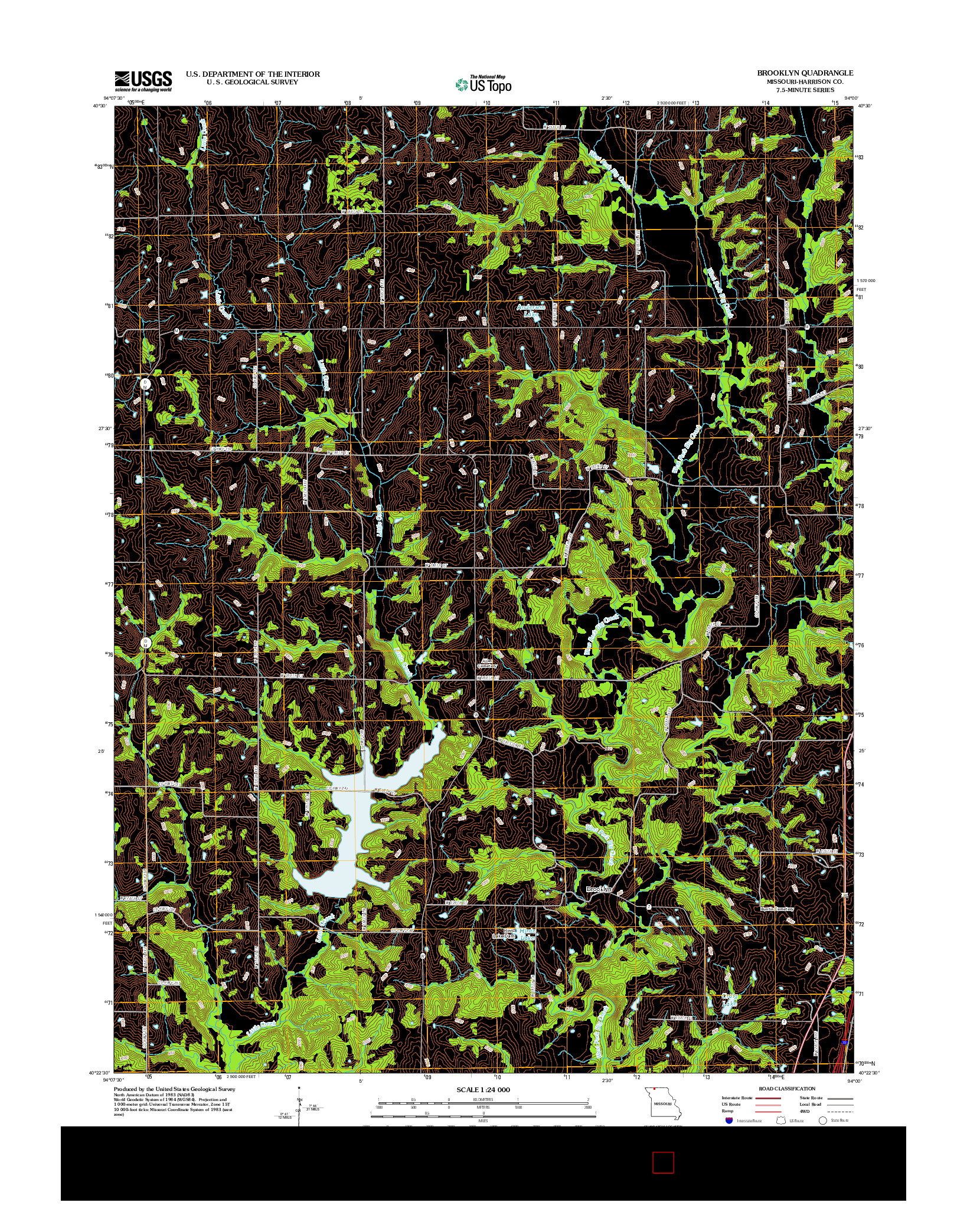 USGS US TOPO 7.5-MINUTE MAP FOR BROOKLYN, MO 2012