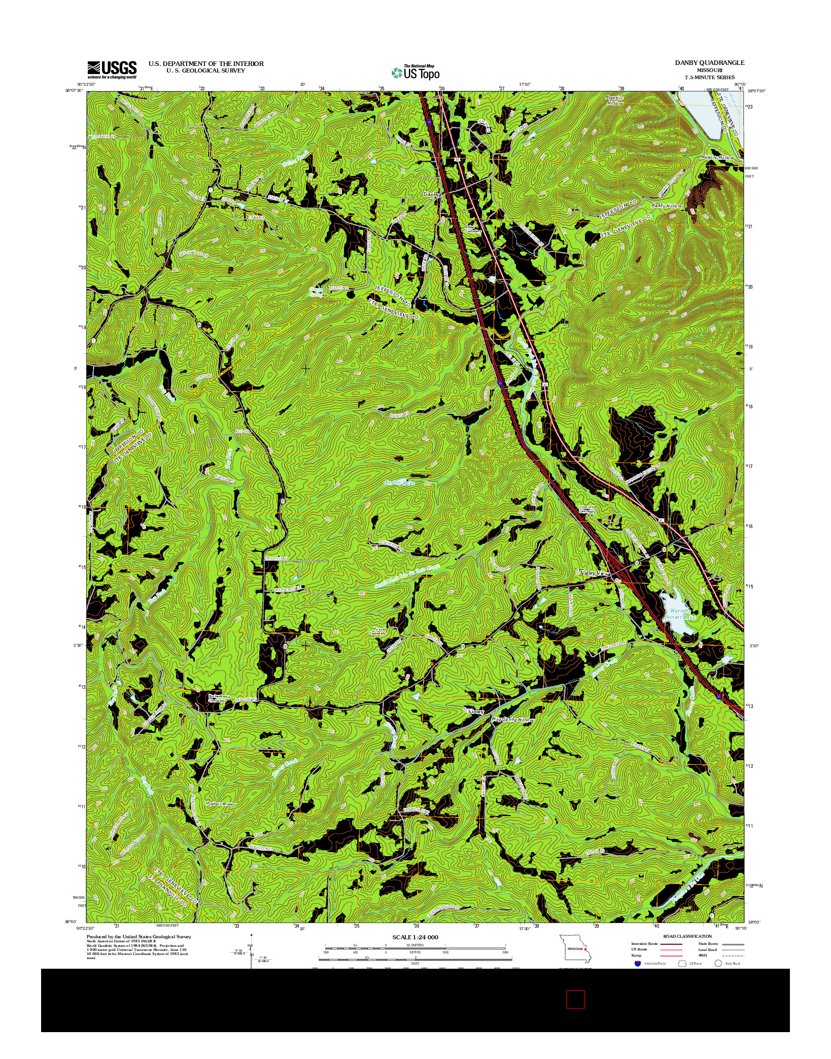 USGS US TOPO 7.5-MINUTE MAP FOR DANBY, MO 2012