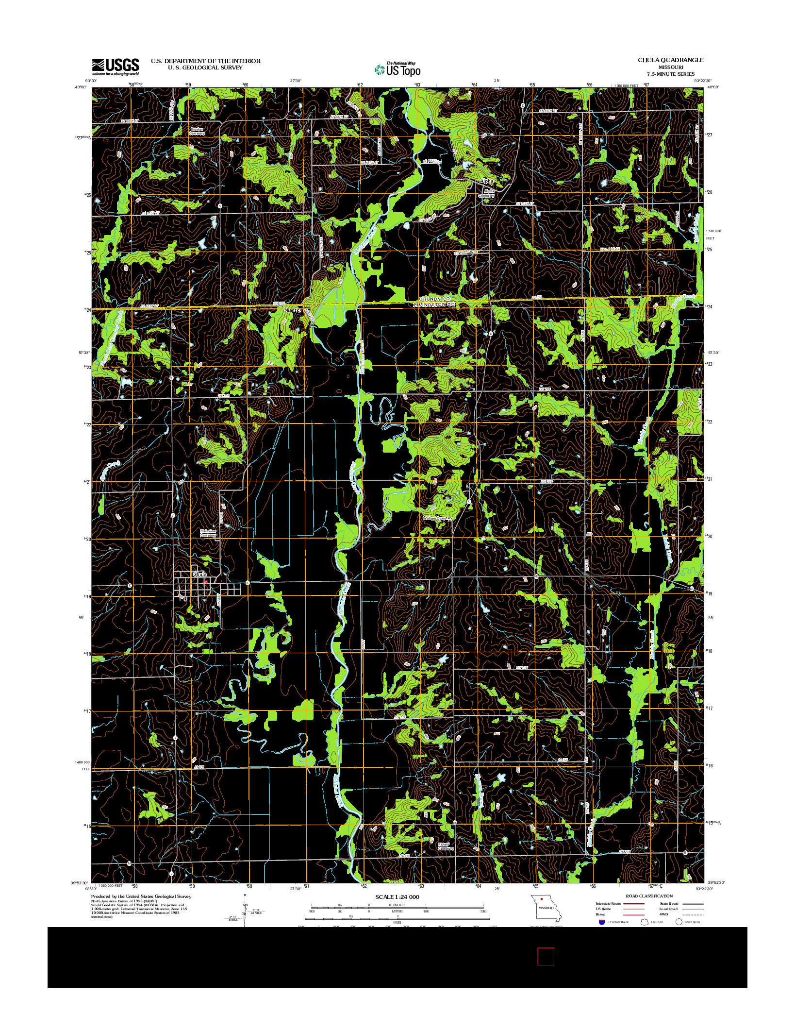 USGS US TOPO 7.5-MINUTE MAP FOR CHULA, MO 2012