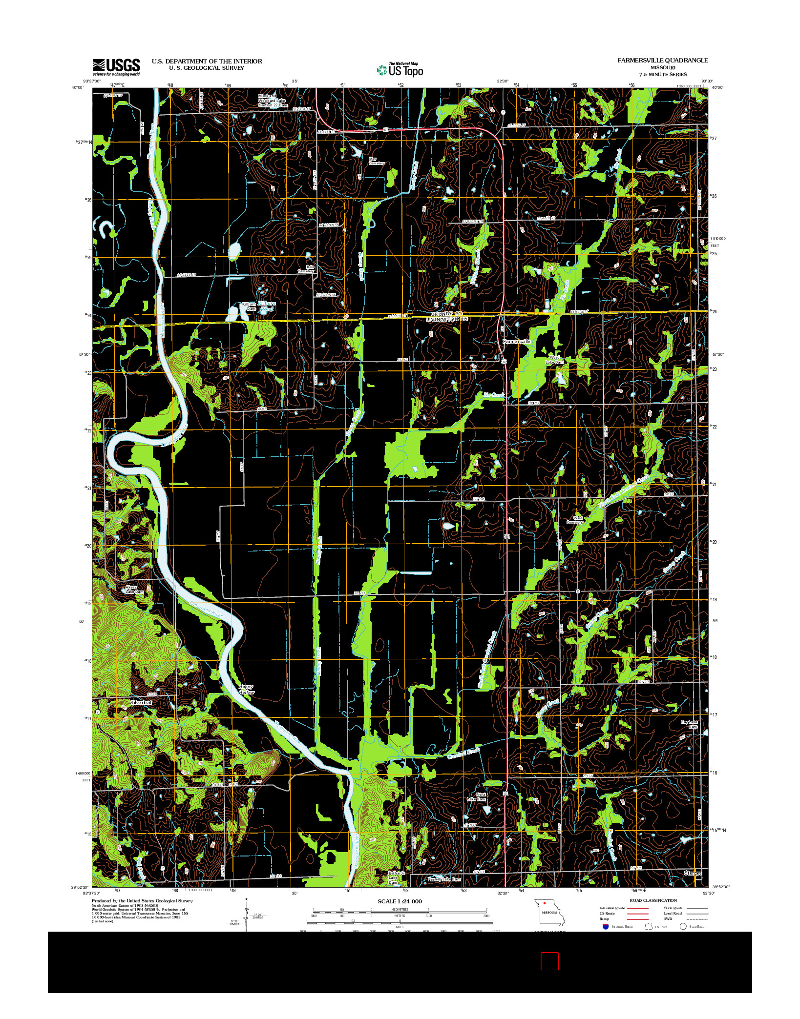 USGS US TOPO 7.5-MINUTE MAP FOR FARMERSVILLE, MO 2012