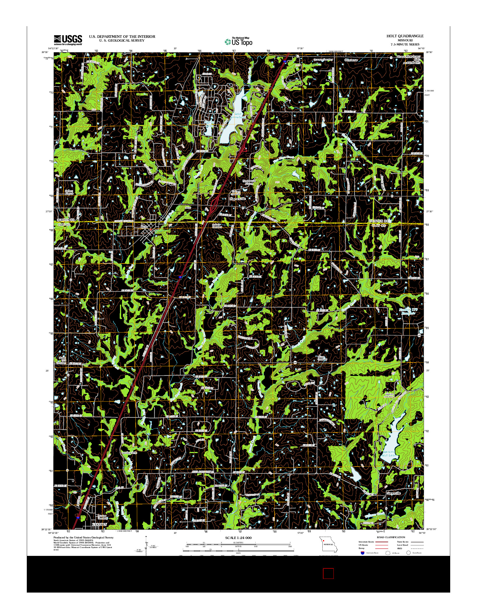 USGS US TOPO 7.5-MINUTE MAP FOR HOLT, MO 2012