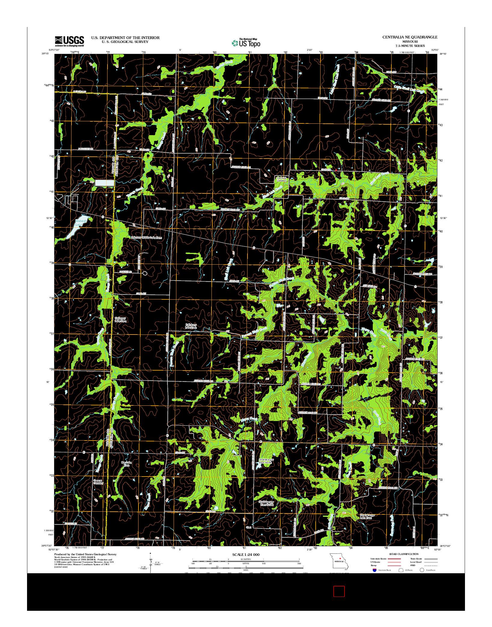 USGS US TOPO 7.5-MINUTE MAP FOR CENTRALIA NE, MO 2012