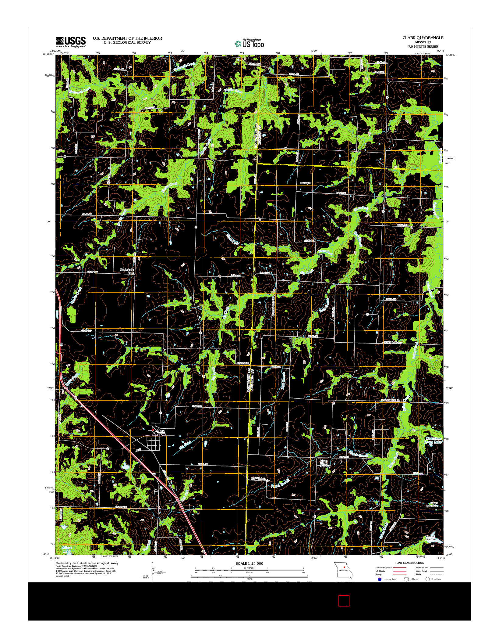 USGS US TOPO 7.5-MINUTE MAP FOR CLARK, MO 2012