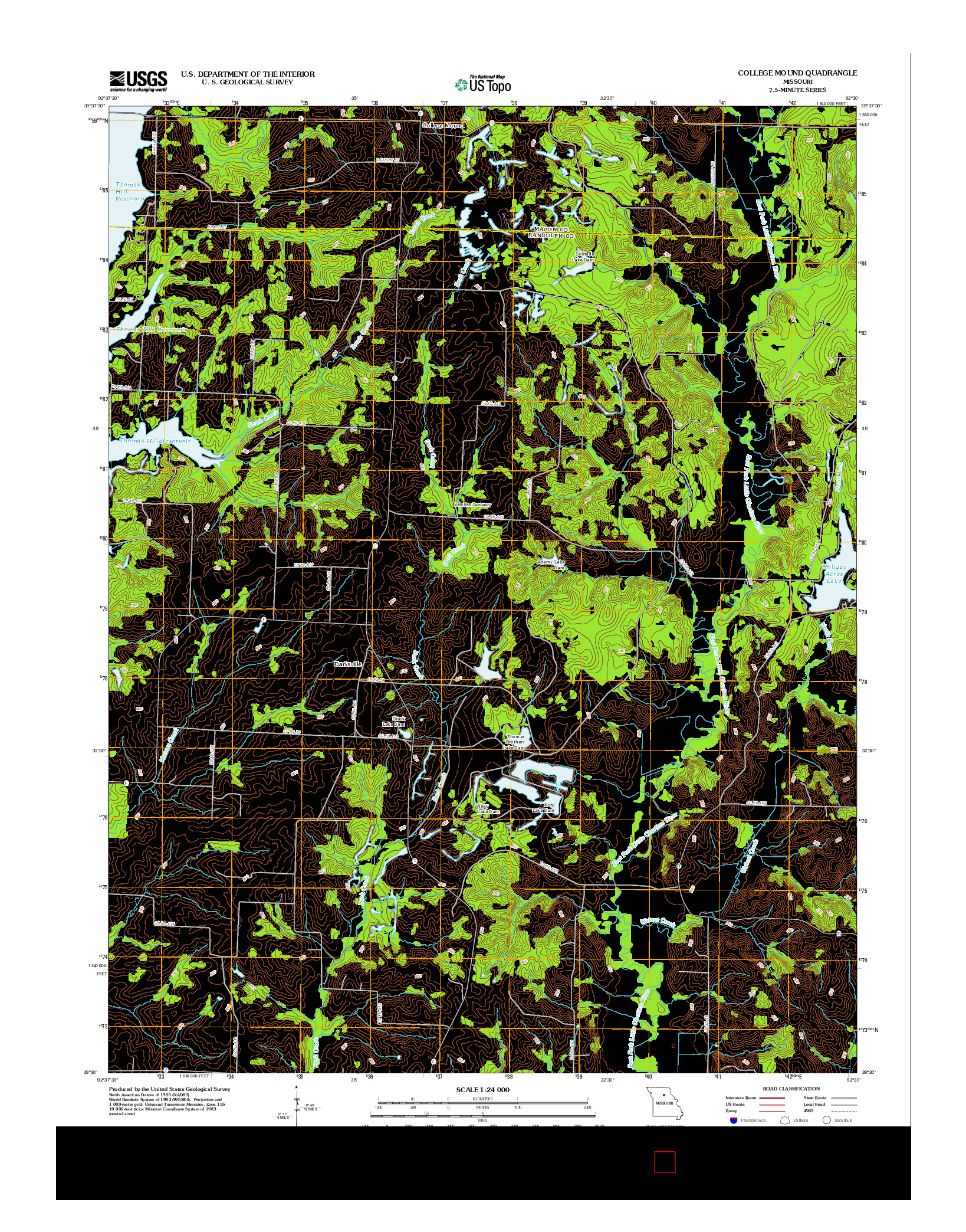 USGS US TOPO 7.5-MINUTE MAP FOR COLLEGE MOUND, MO 2012