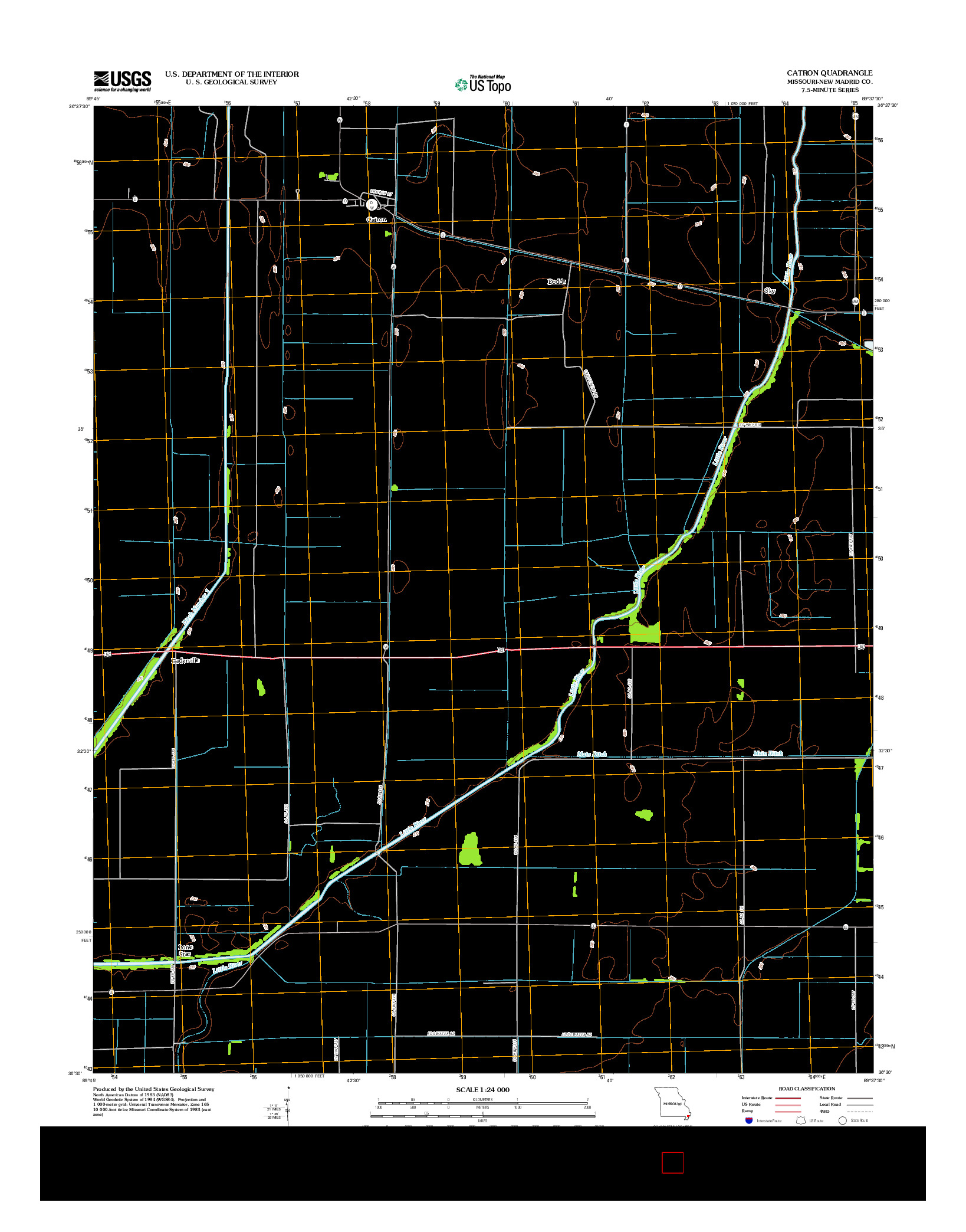 USGS US TOPO 7.5-MINUTE MAP FOR CATRON, MO 2012