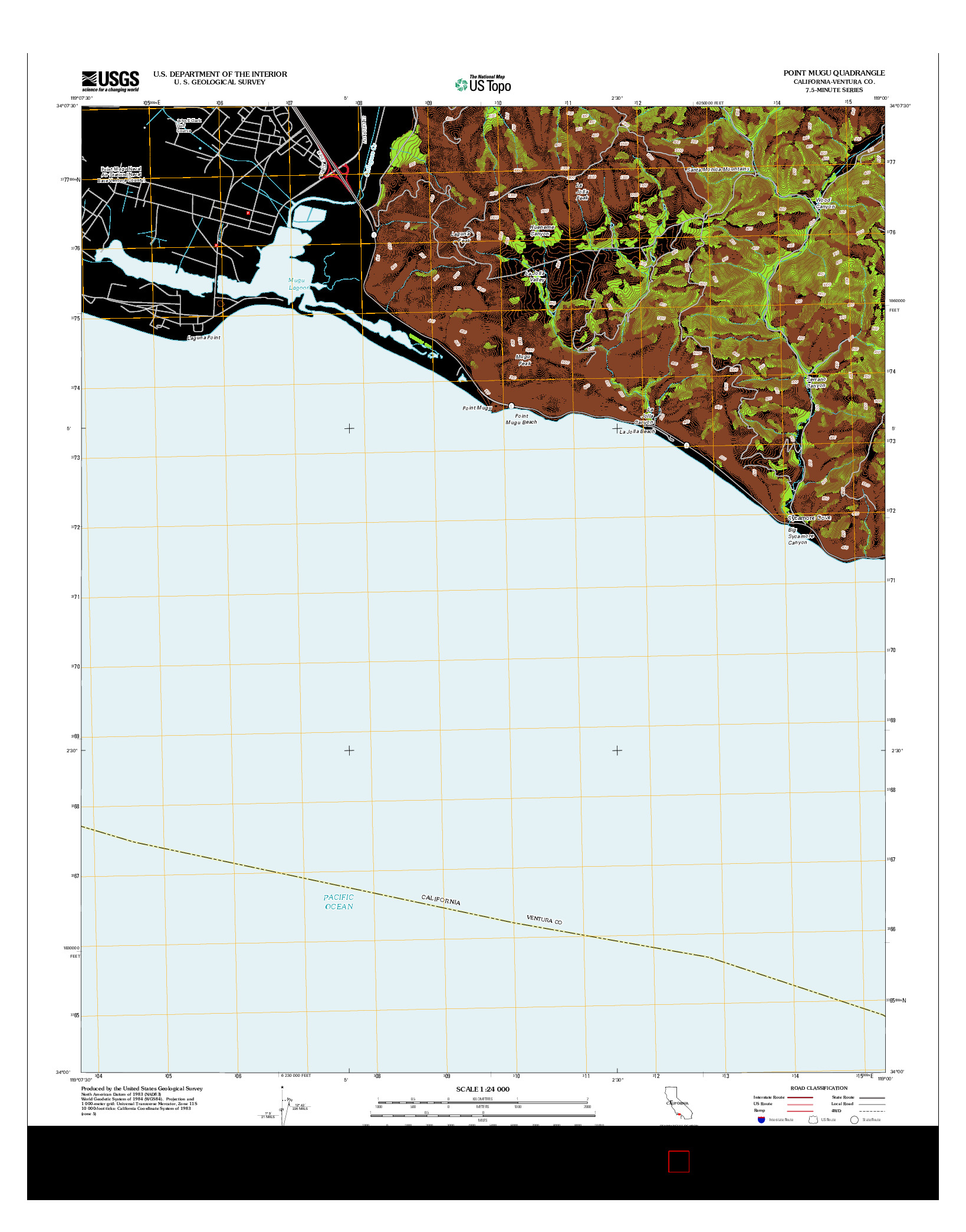 USGS US TOPO 7.5-MINUTE MAP FOR POINT MUGU, CA 2012