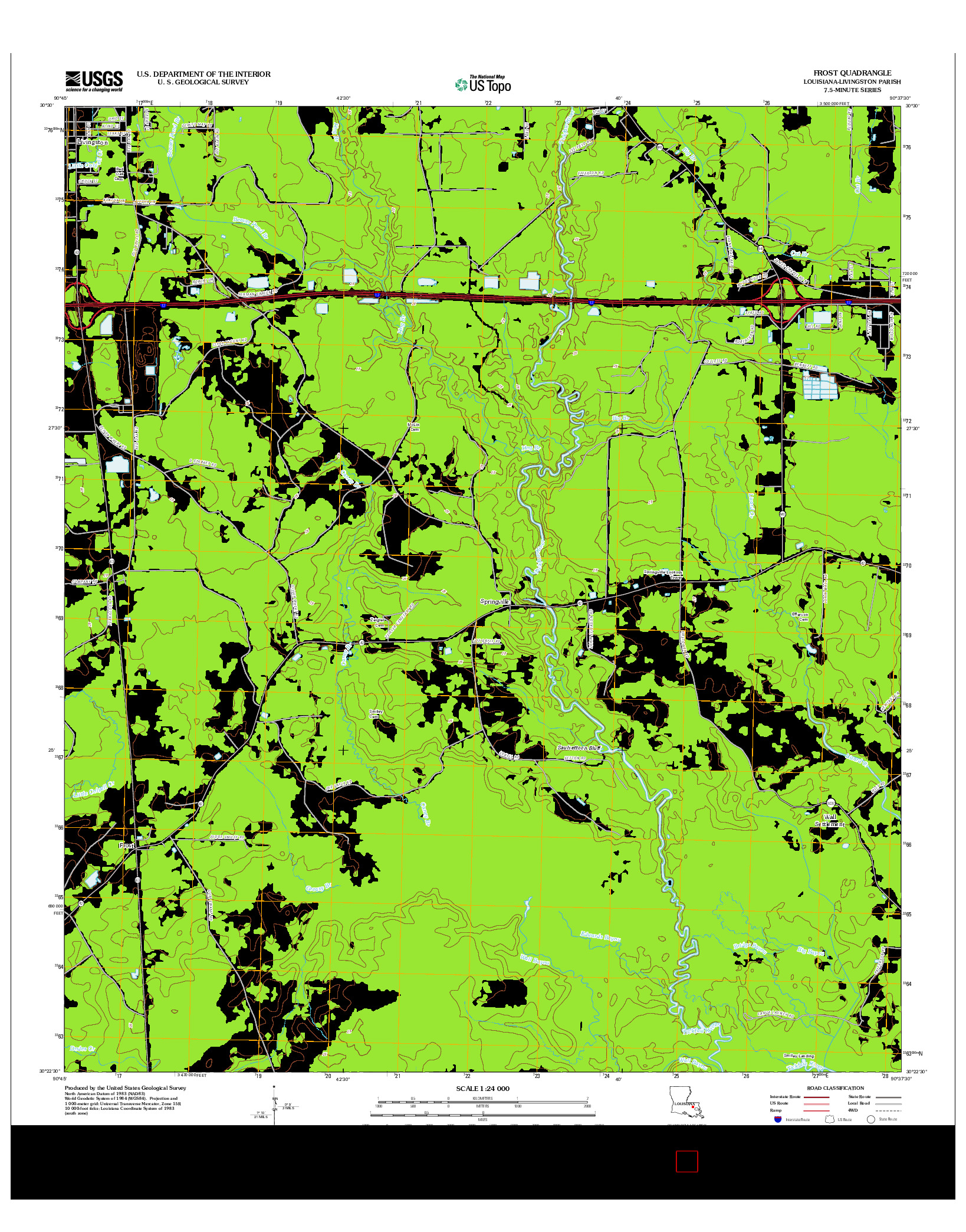 USGS US TOPO 7.5-MINUTE MAP FOR FROST, LA 2012