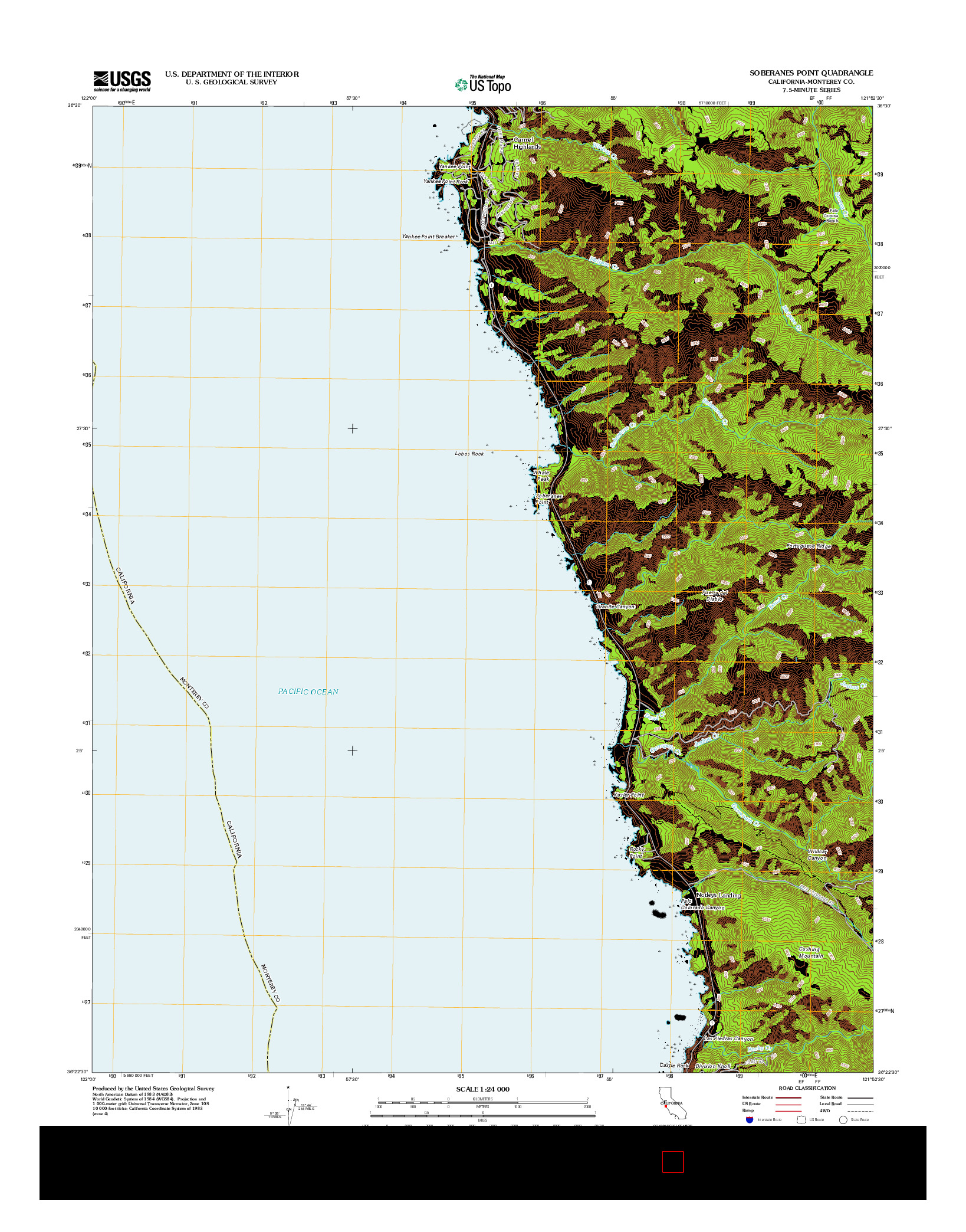 USGS US TOPO 7.5-MINUTE MAP FOR SOBERANES POINT, CA 2012