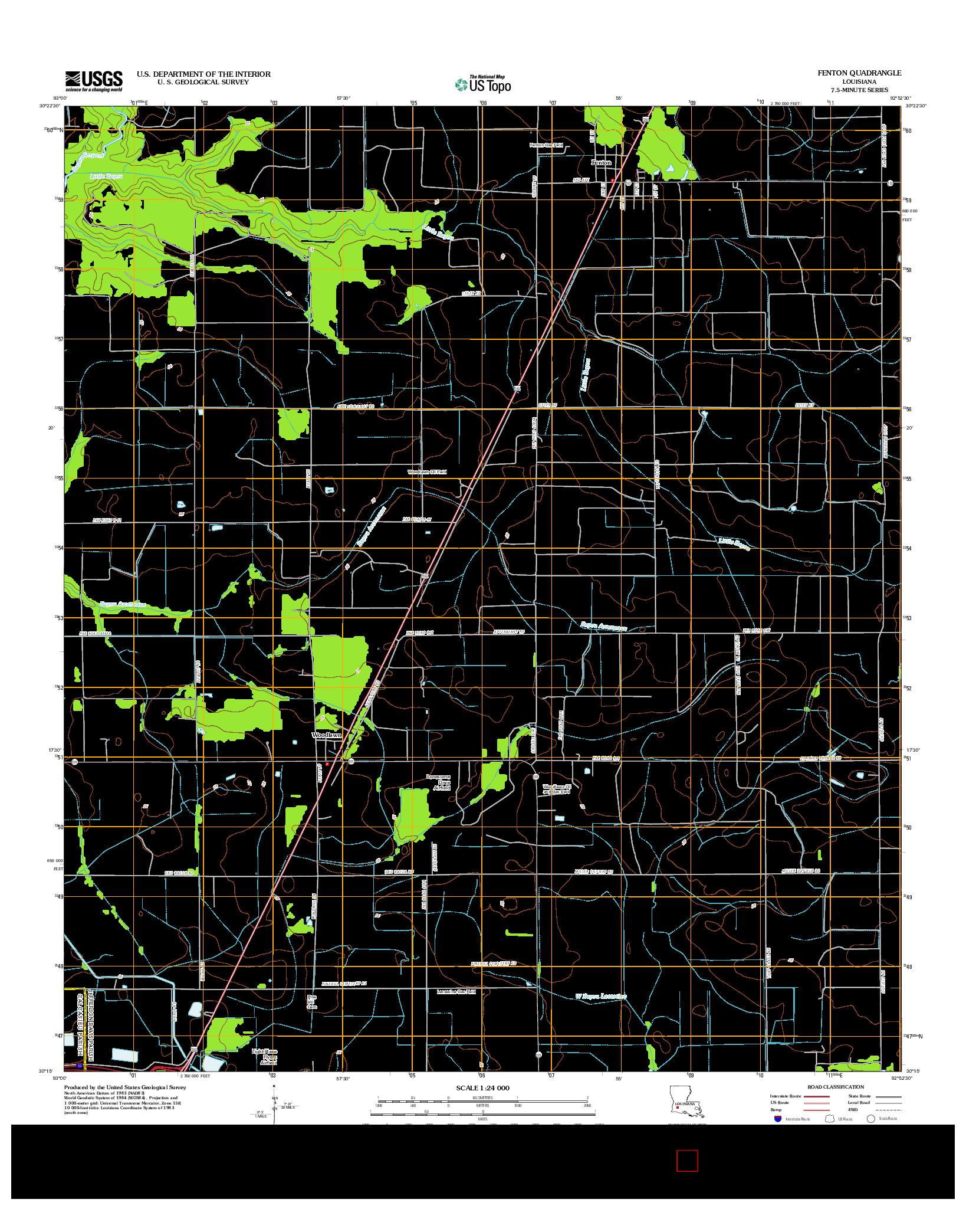 USGS US TOPO 7.5-MINUTE MAP FOR FENTON, LA 2012