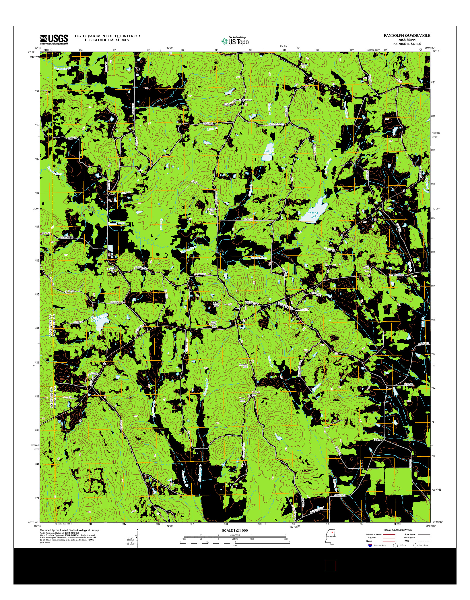 USGS US TOPO 7.5-MINUTE MAP FOR RANDOLPH, MS 2012
