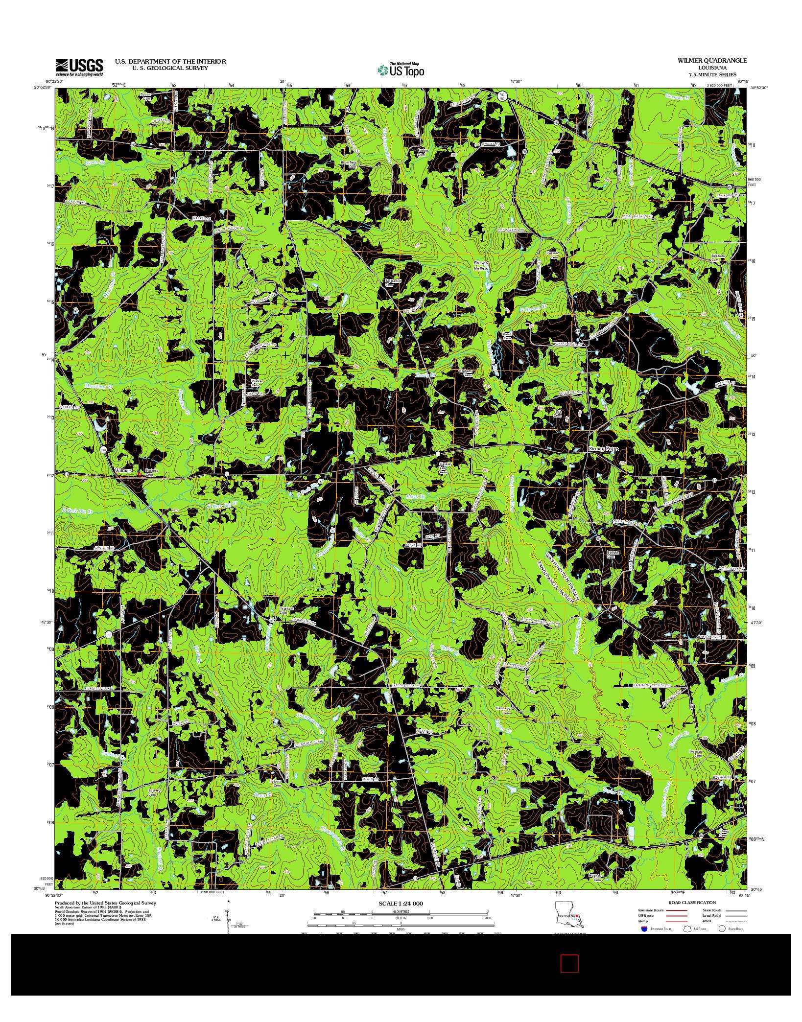USGS US TOPO 7.5-MINUTE MAP FOR WILMER, LA 2012